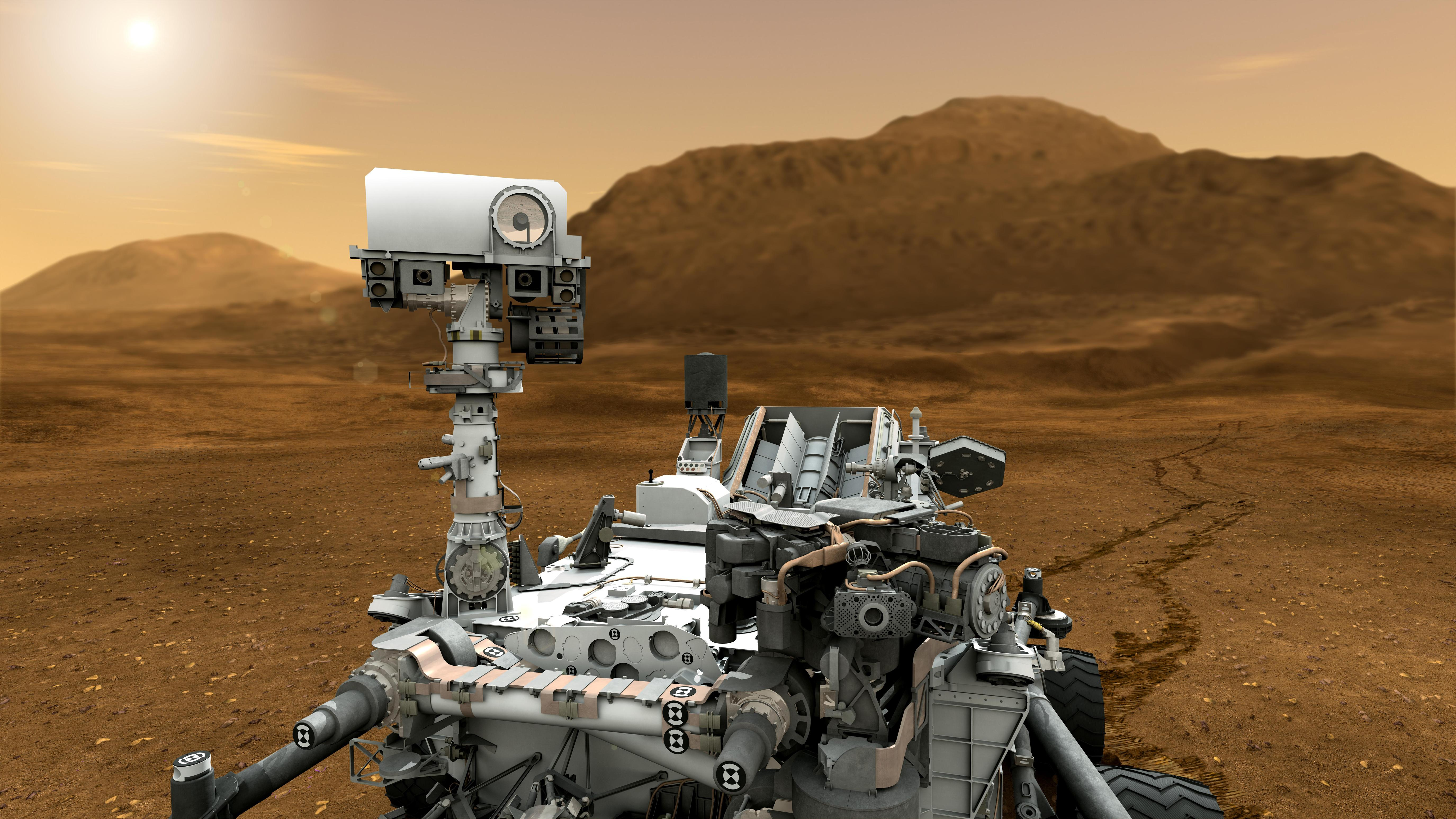 NASA - Mars Rover Curiosity in Artist's Concept, Close-up