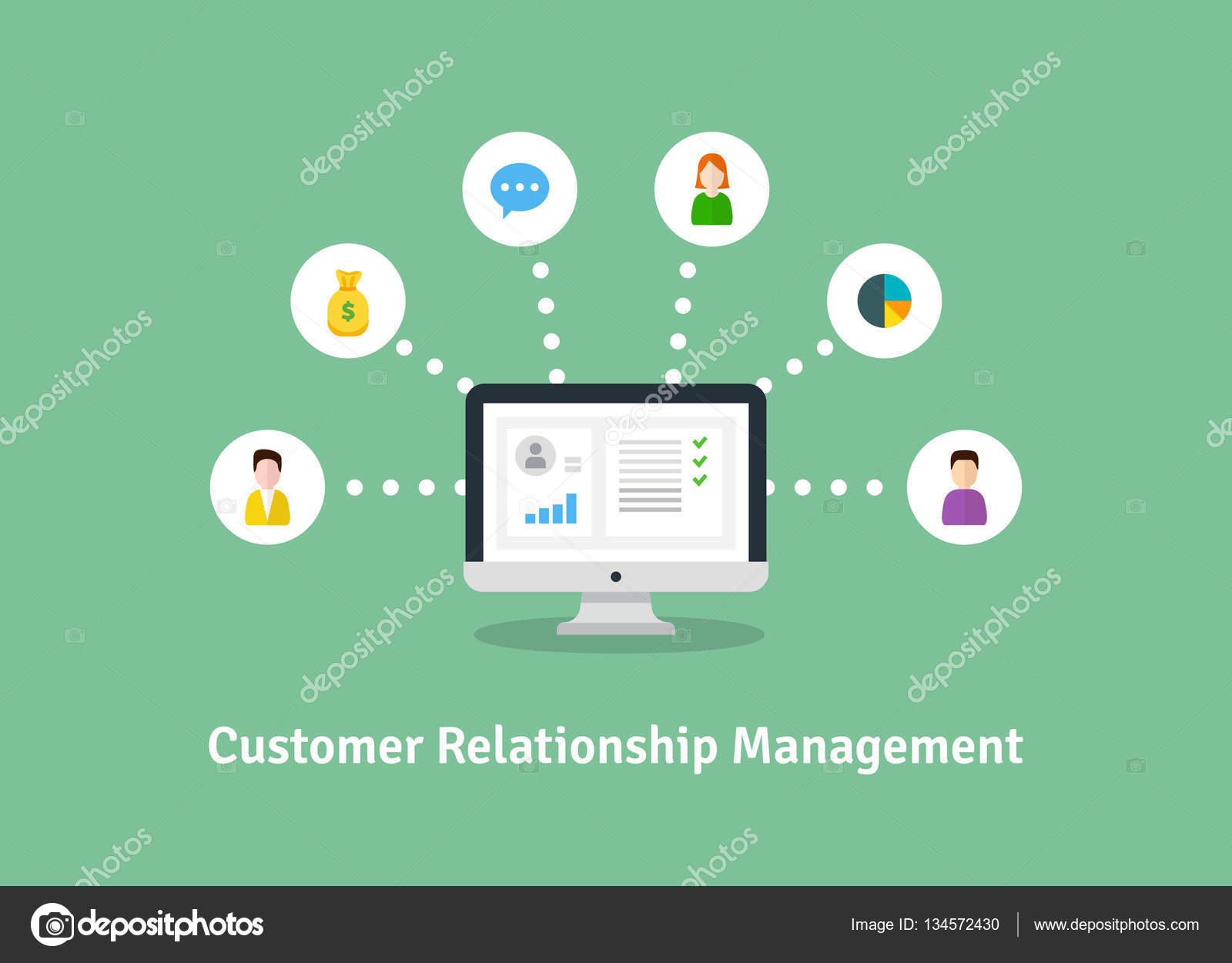 Customer relationship management - illustration photo