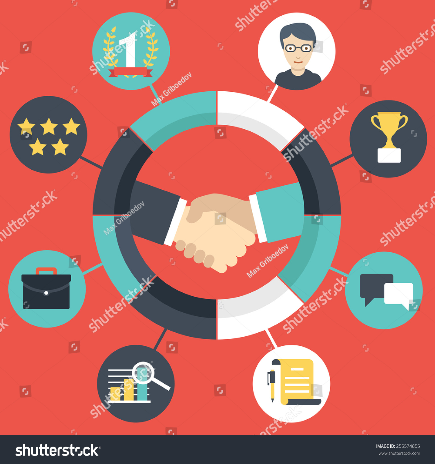 Customer Relationship Management Vector Illustration Stock Vector ...