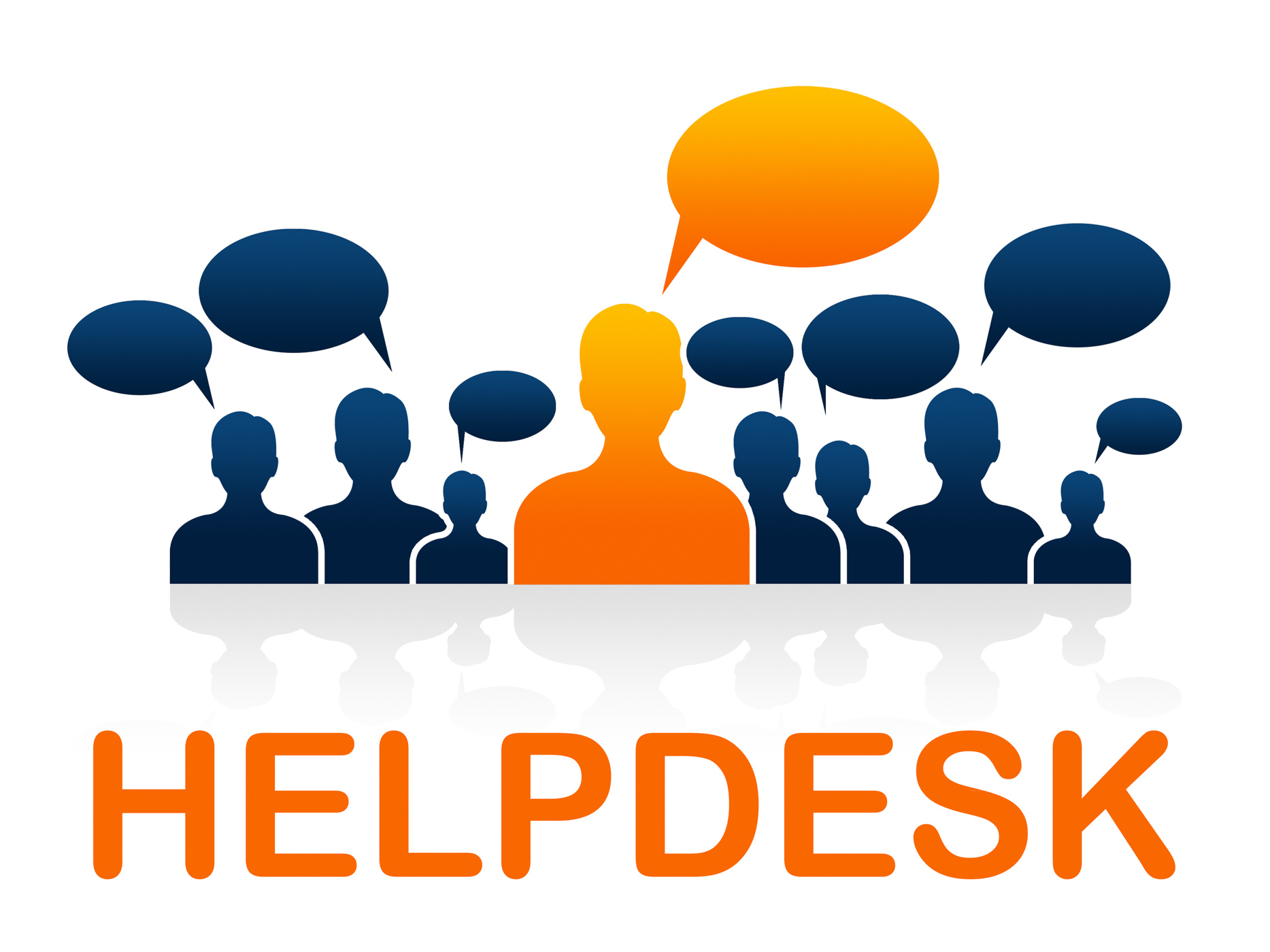 Customer service means help desk and advice photo
