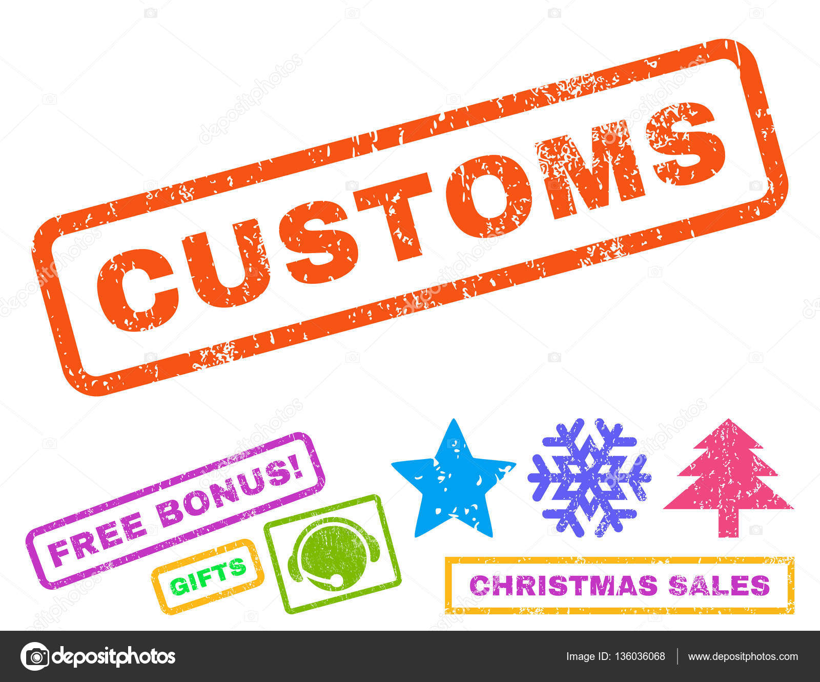 Customs Rubber Stamp — Stock Vector © anastasyastocks.gmail.com ...