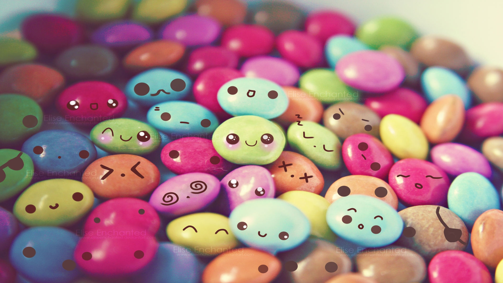 Cute Colorful Candy Desktop Wallpaper | WallpaperLepi