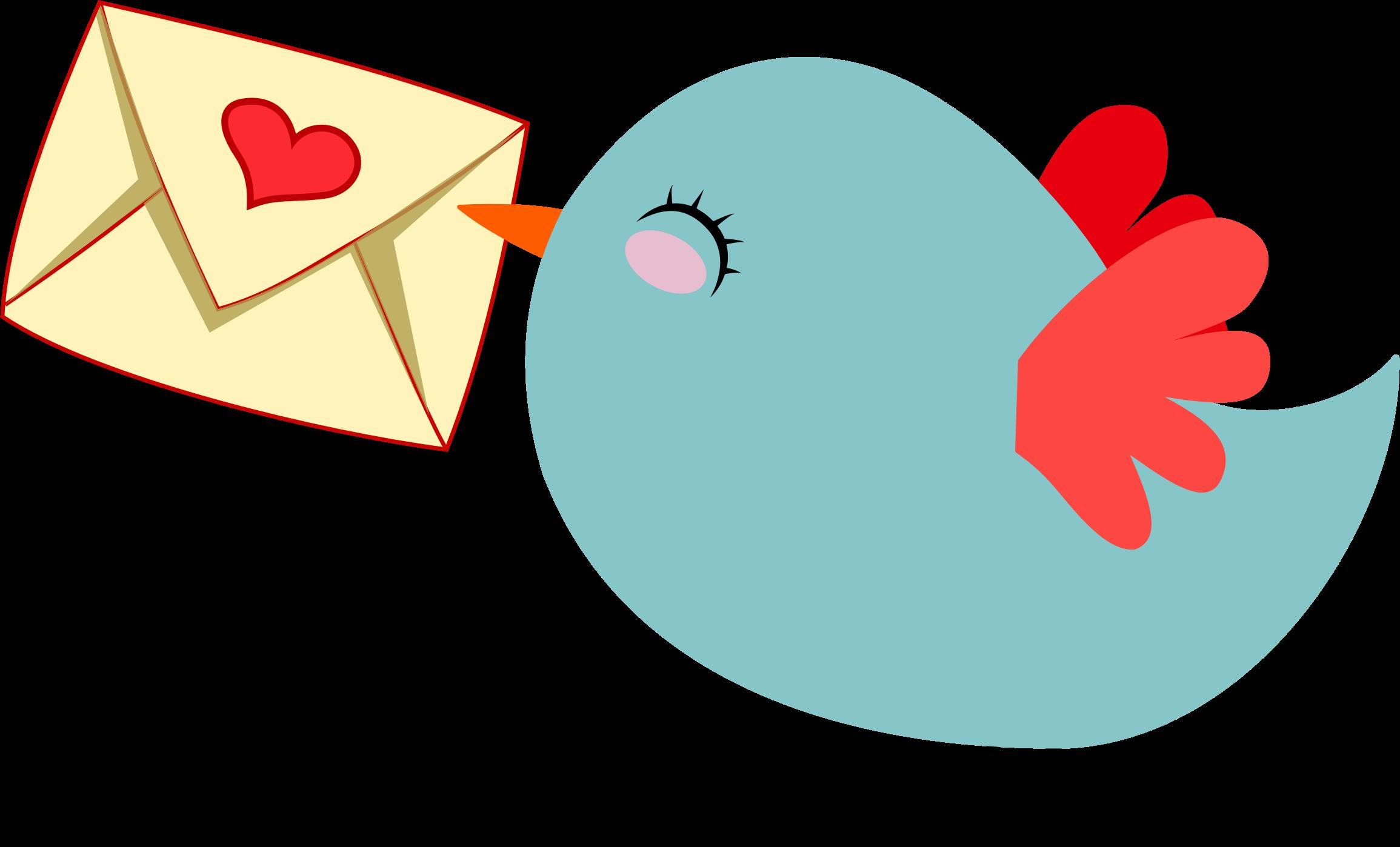 Clipart - Cute Mail Carrier Bird