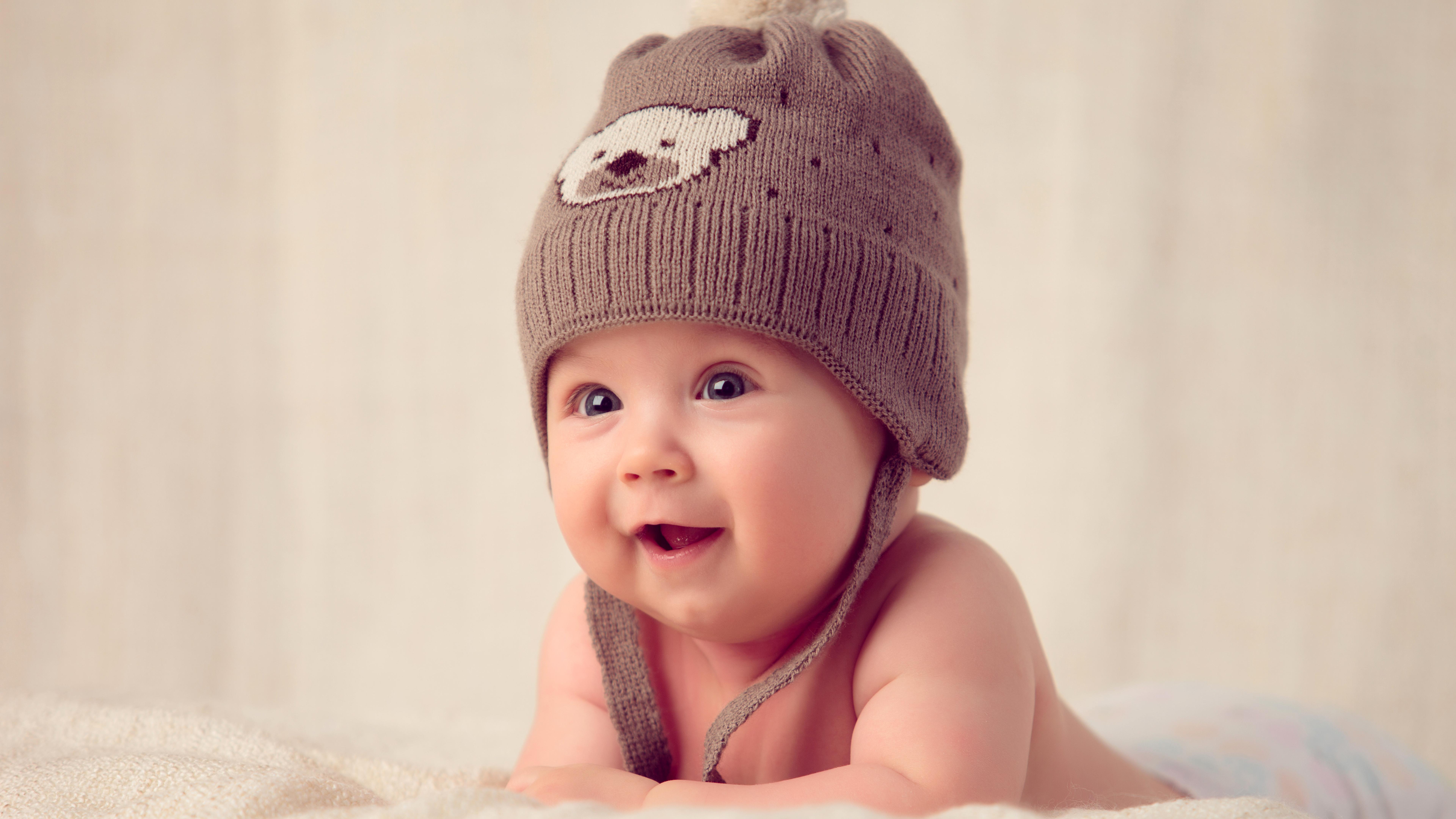 Wallpaper Cute Baby, Hat, Muffle Cap, 4K, 8K, Cute, #325