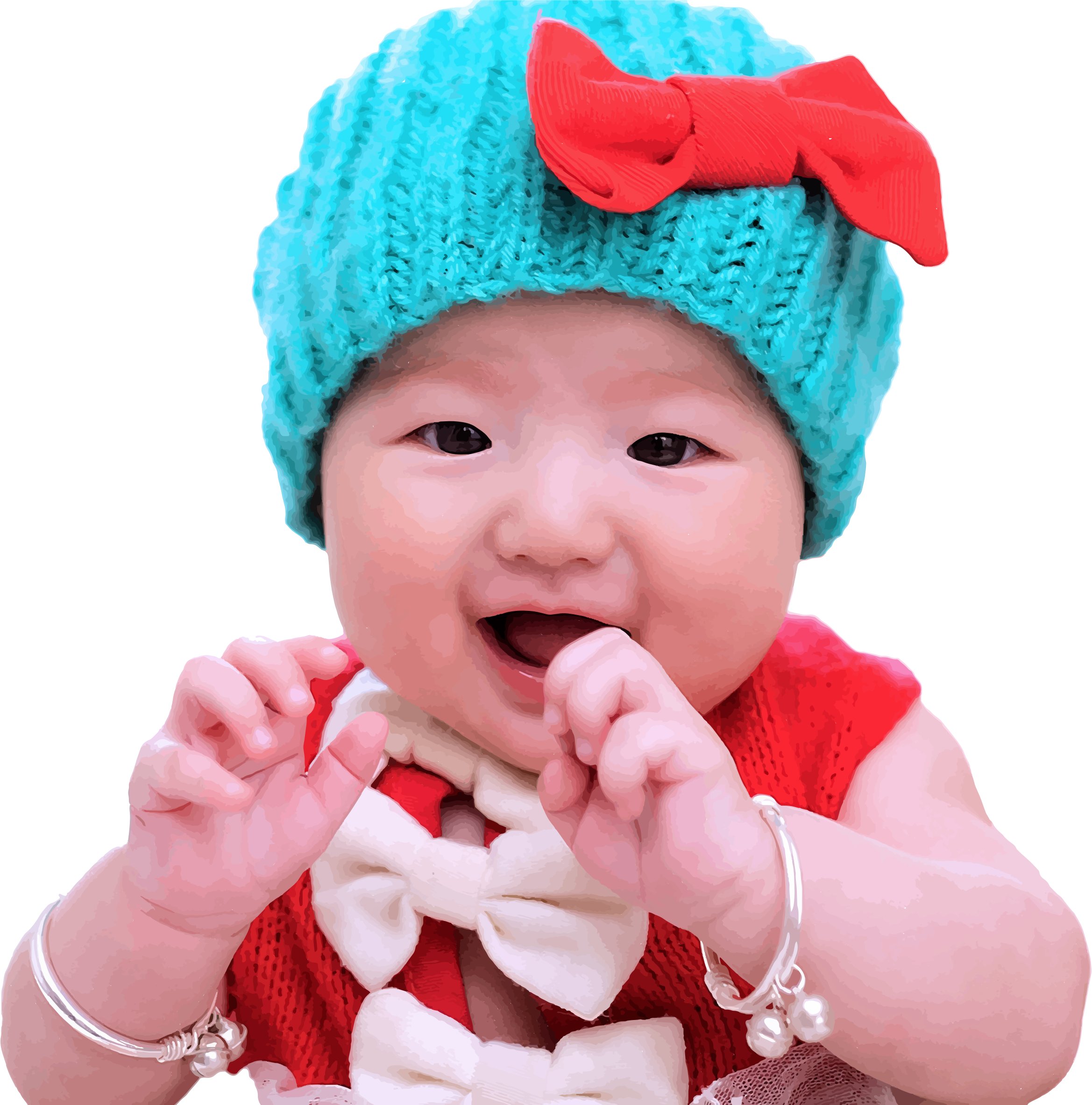 free photo: cute baby - innocent, smile, happy - non-commercial