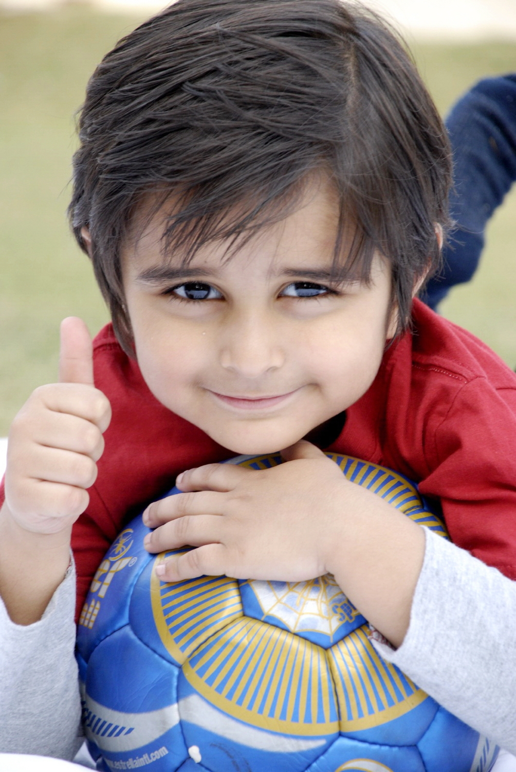 Cute Baby With Football, Adolescence, Person, Joy, Kid, HQ Photo