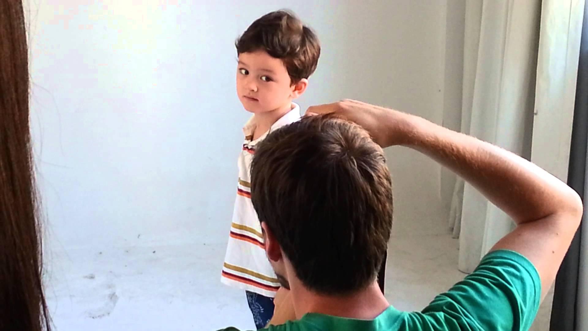 Cute boy acting photo