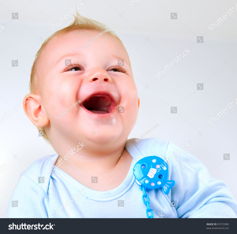 Cute Baby Boy Laughing Stock Photo 87272089 - Shutterstock