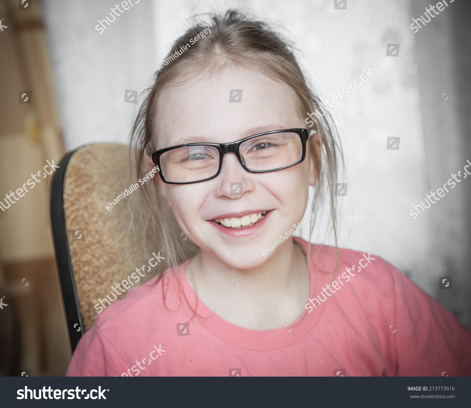 Cute Kid Girl Home While Wearing Stock Photo 273773516 - Shutterstock