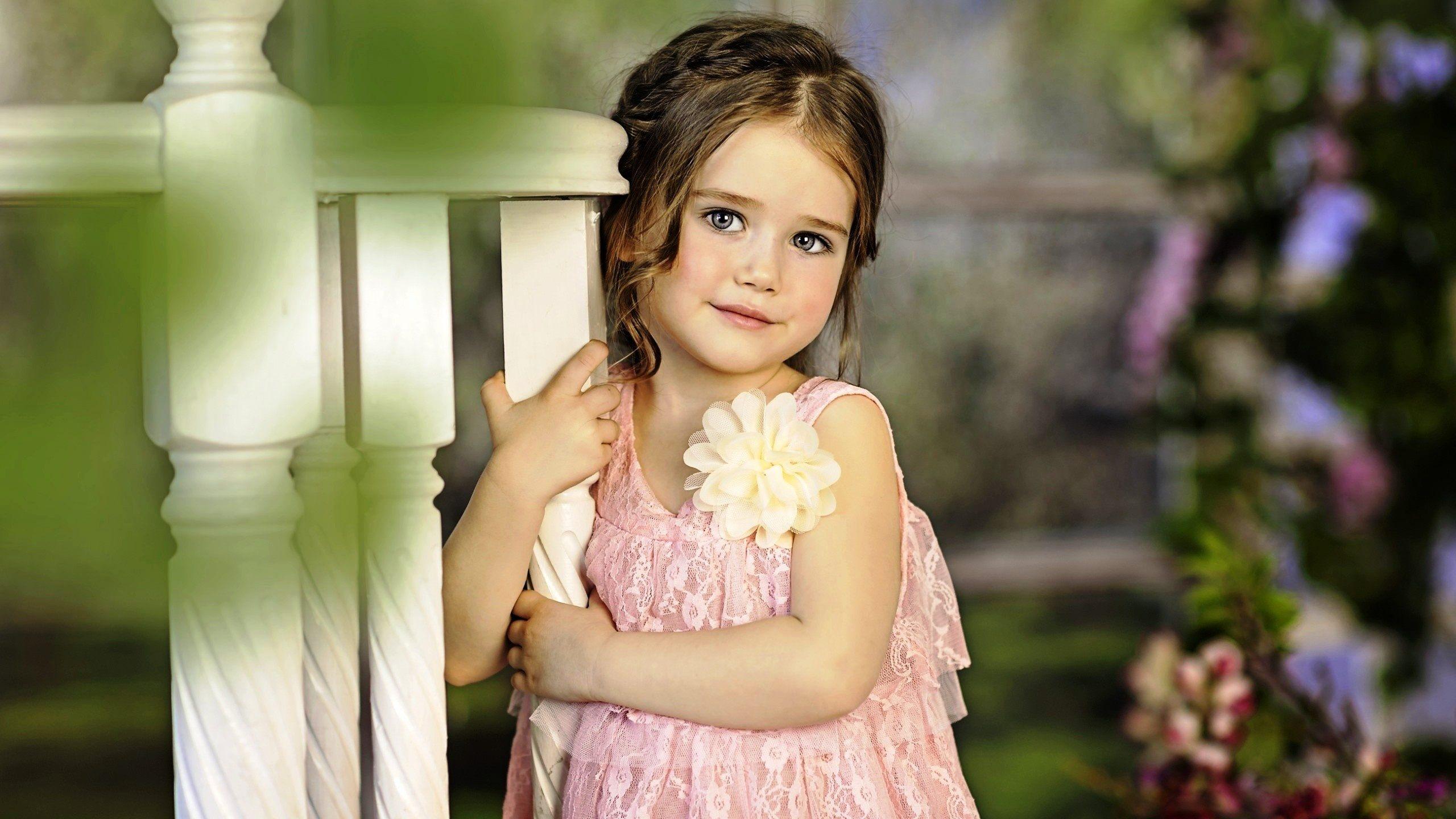 cute little girl in flower dress wallpaper - Download Hd cute little ...