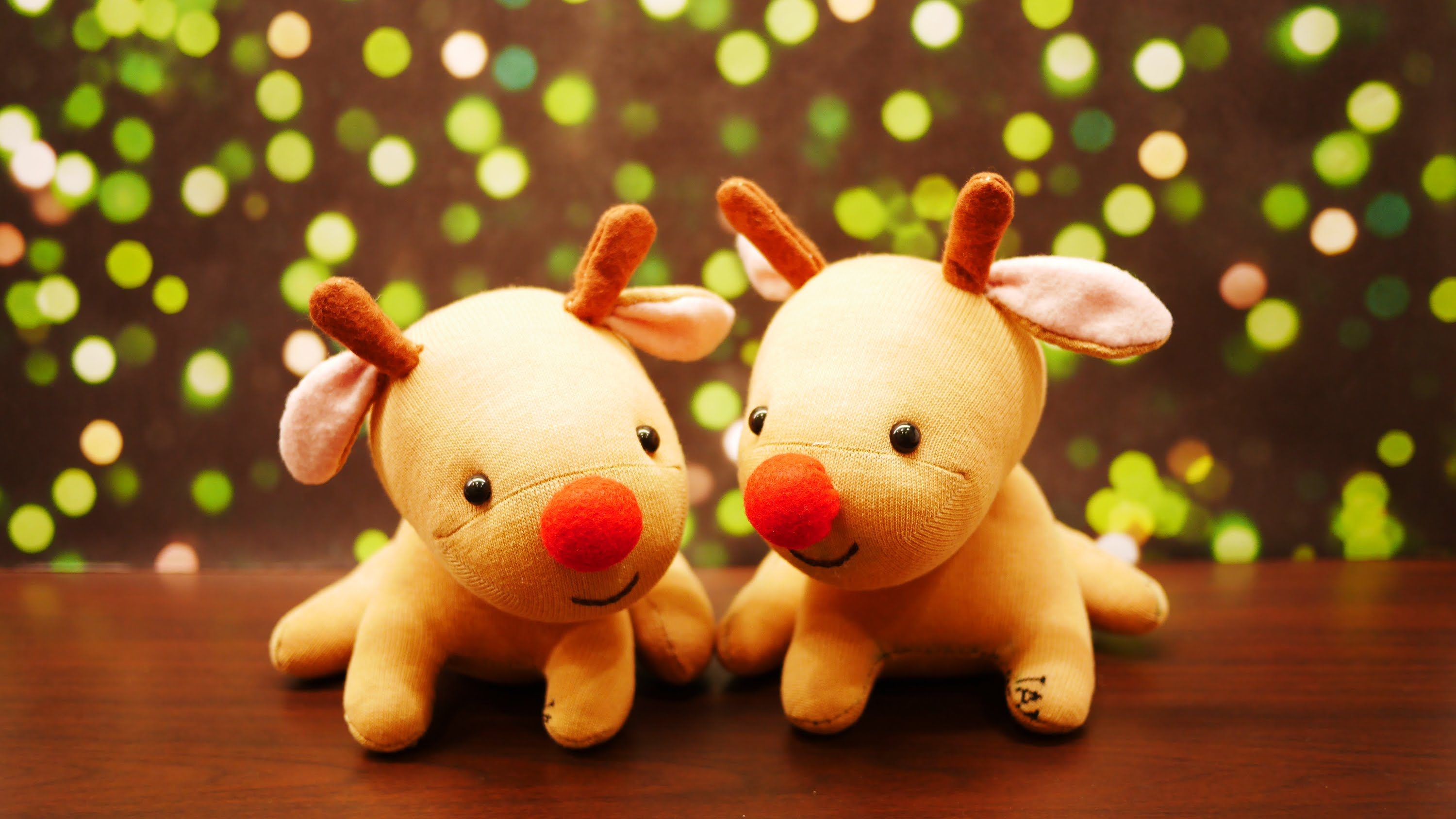 Cute stuffed reindeer photo