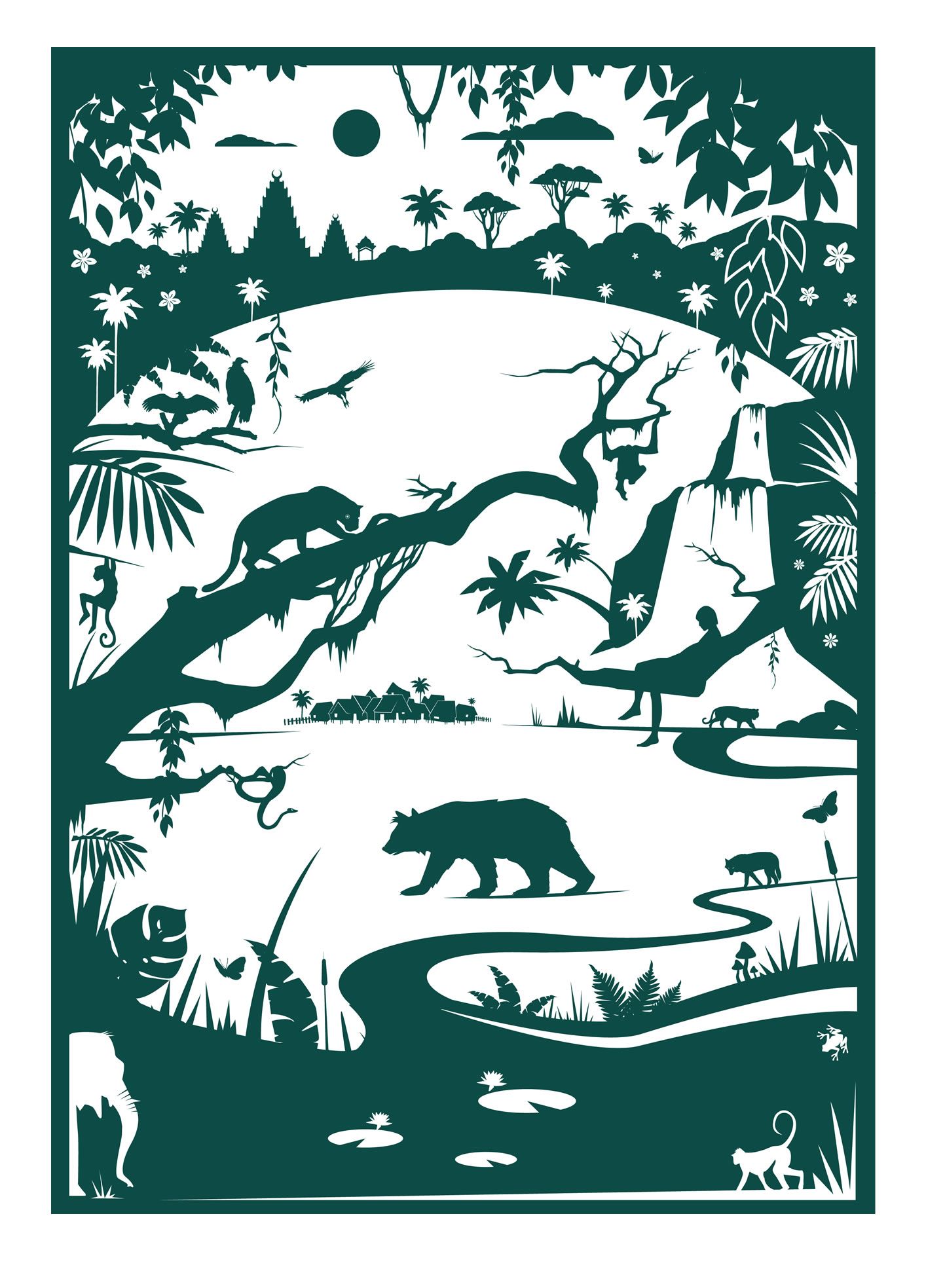Phil West: Jungle Book - Story Book - Characters - click to magnify ...