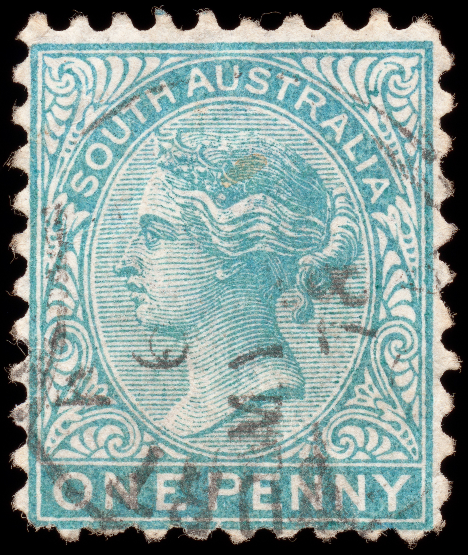 Cyan queen victoria stamp photo