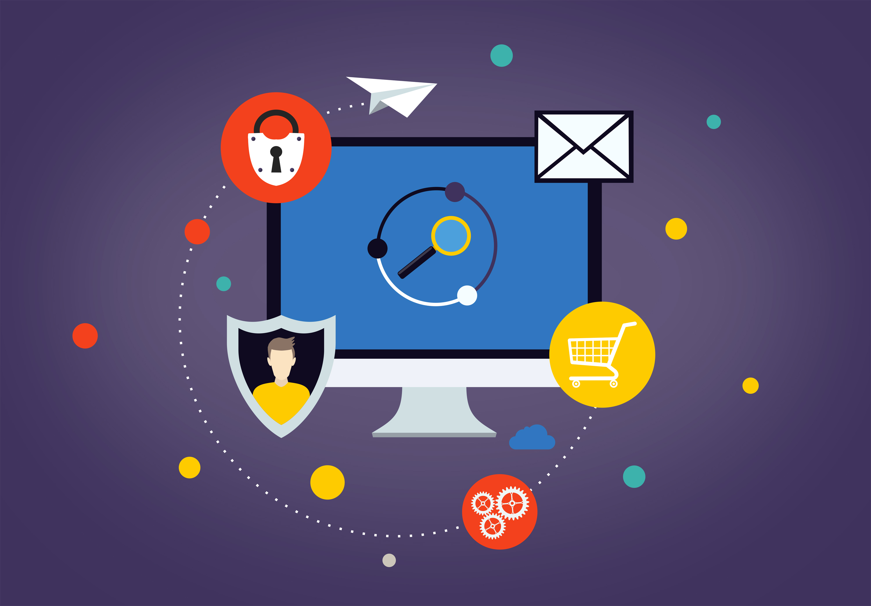 Cybersecurity concept - being safe online photo