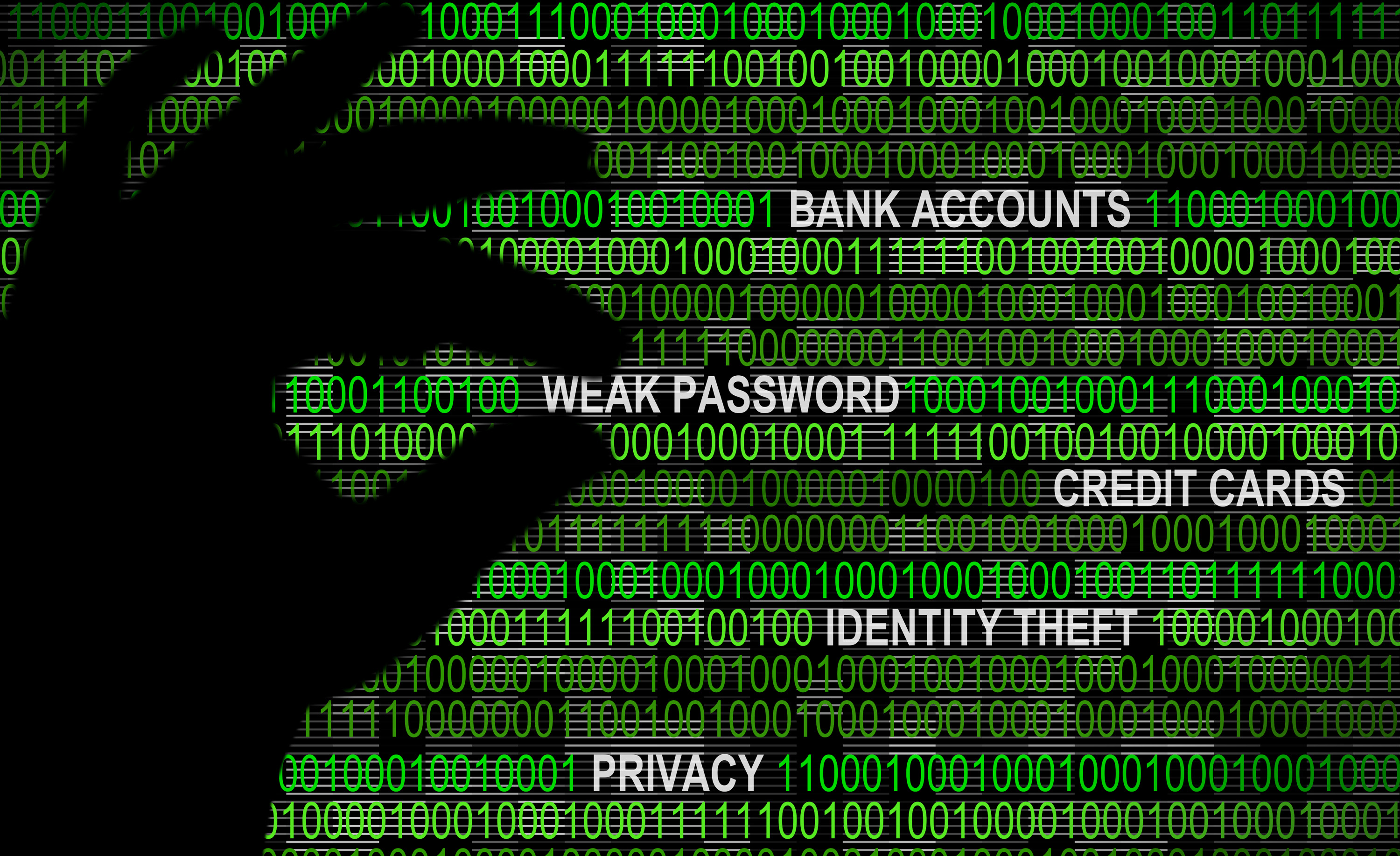 Cybersecurity - Weak Password Concept, Abstract, One, Pixel, Phone, HQ Photo
