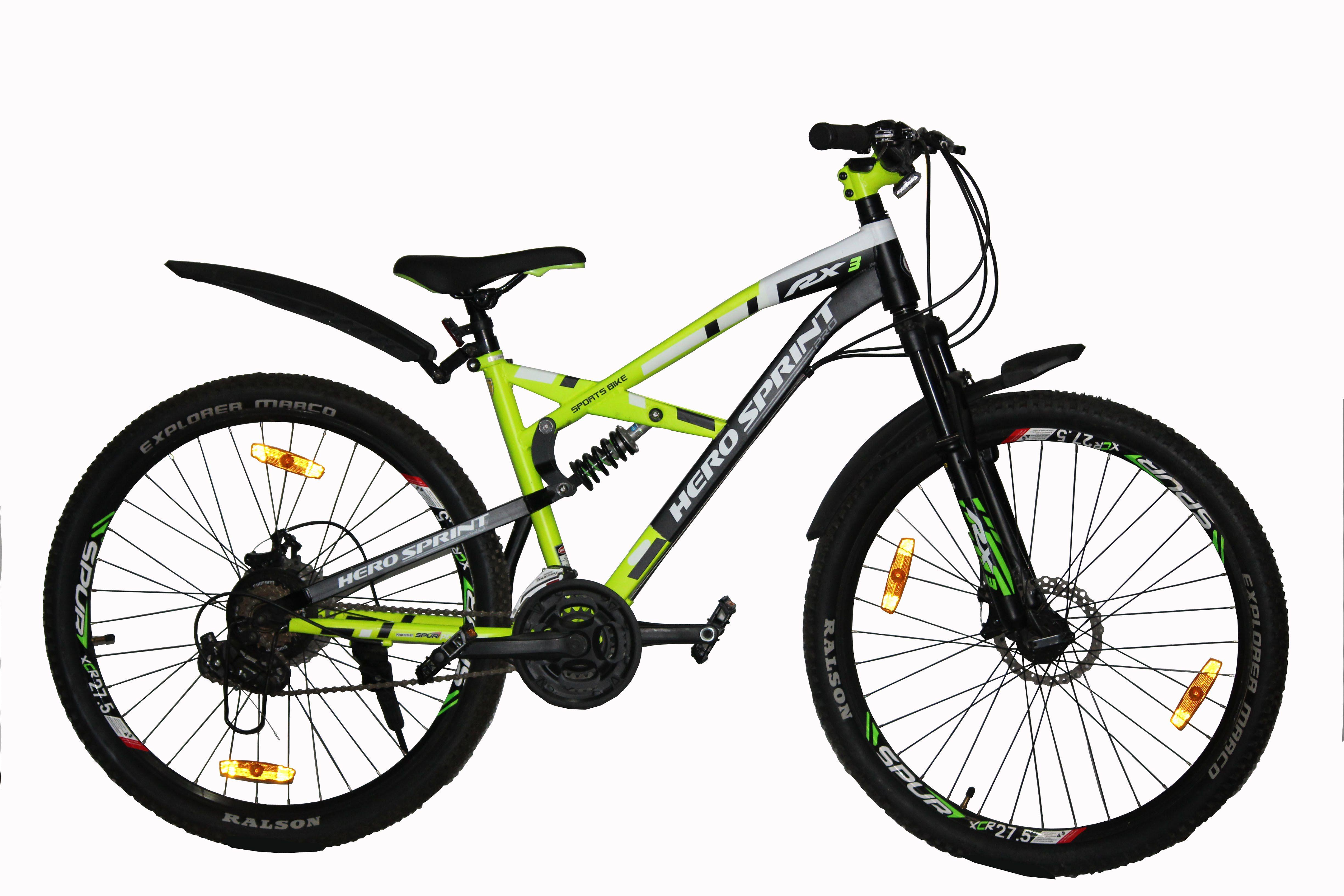 Hero Sprint RX3 21 Gear Speed Green 66.04 cm(26) Mountain Cycle Bike ...