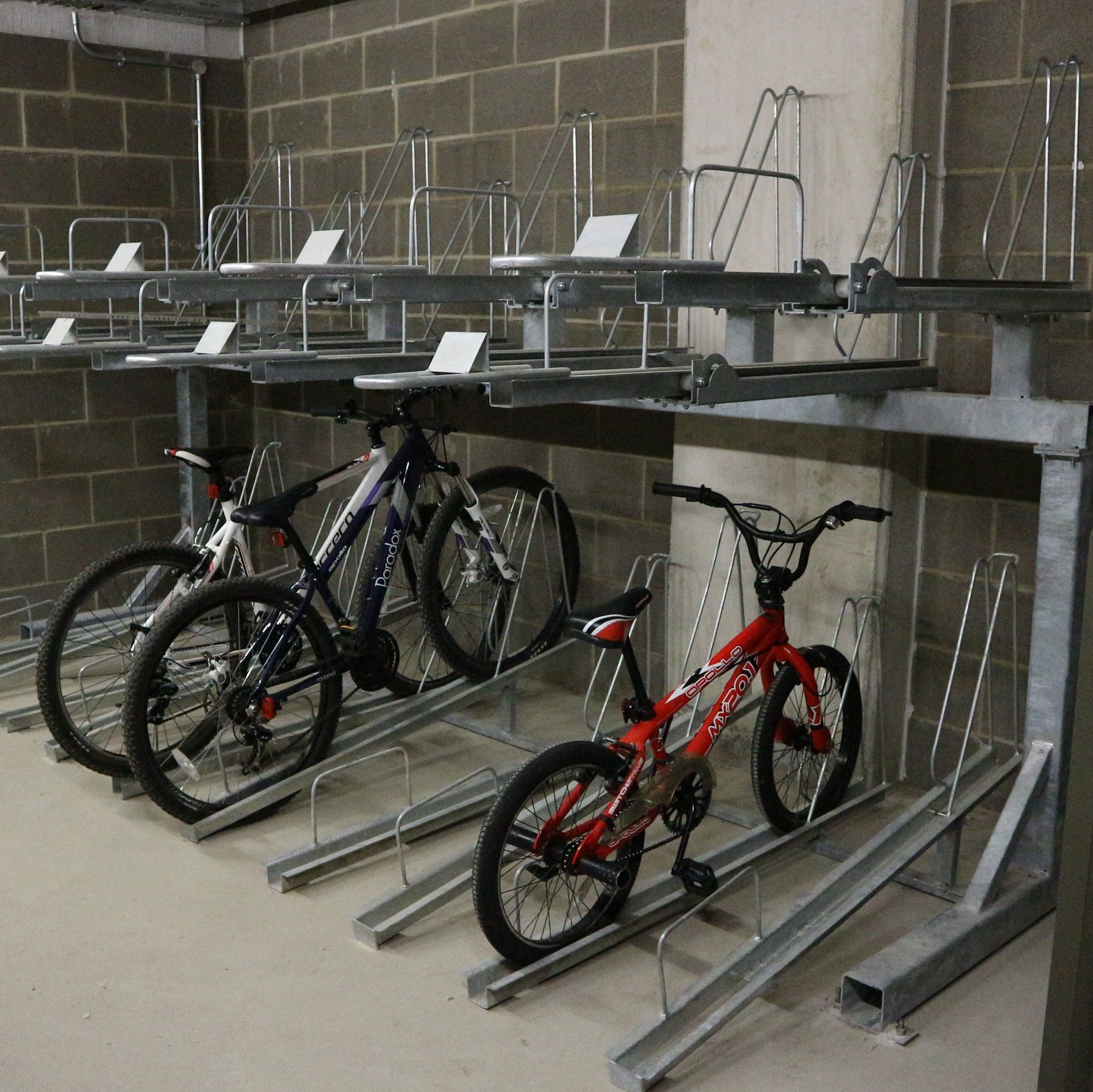 Double Decker Cycle Stand | Street Furniture Direct | Cycle Parking ...