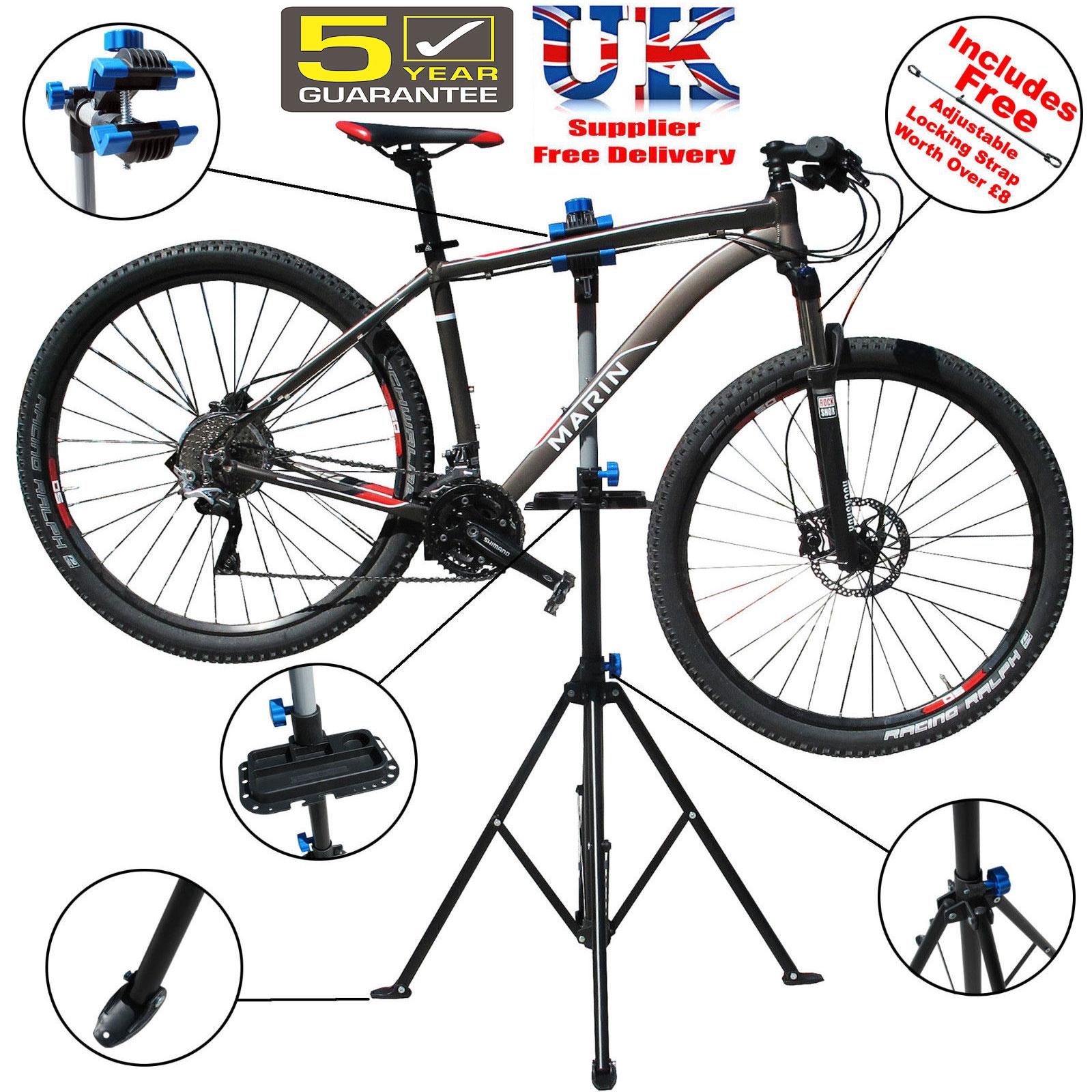 Folding Bicycle Maintenance Repair Stand Pedal Bike Cycle Mechanics ...