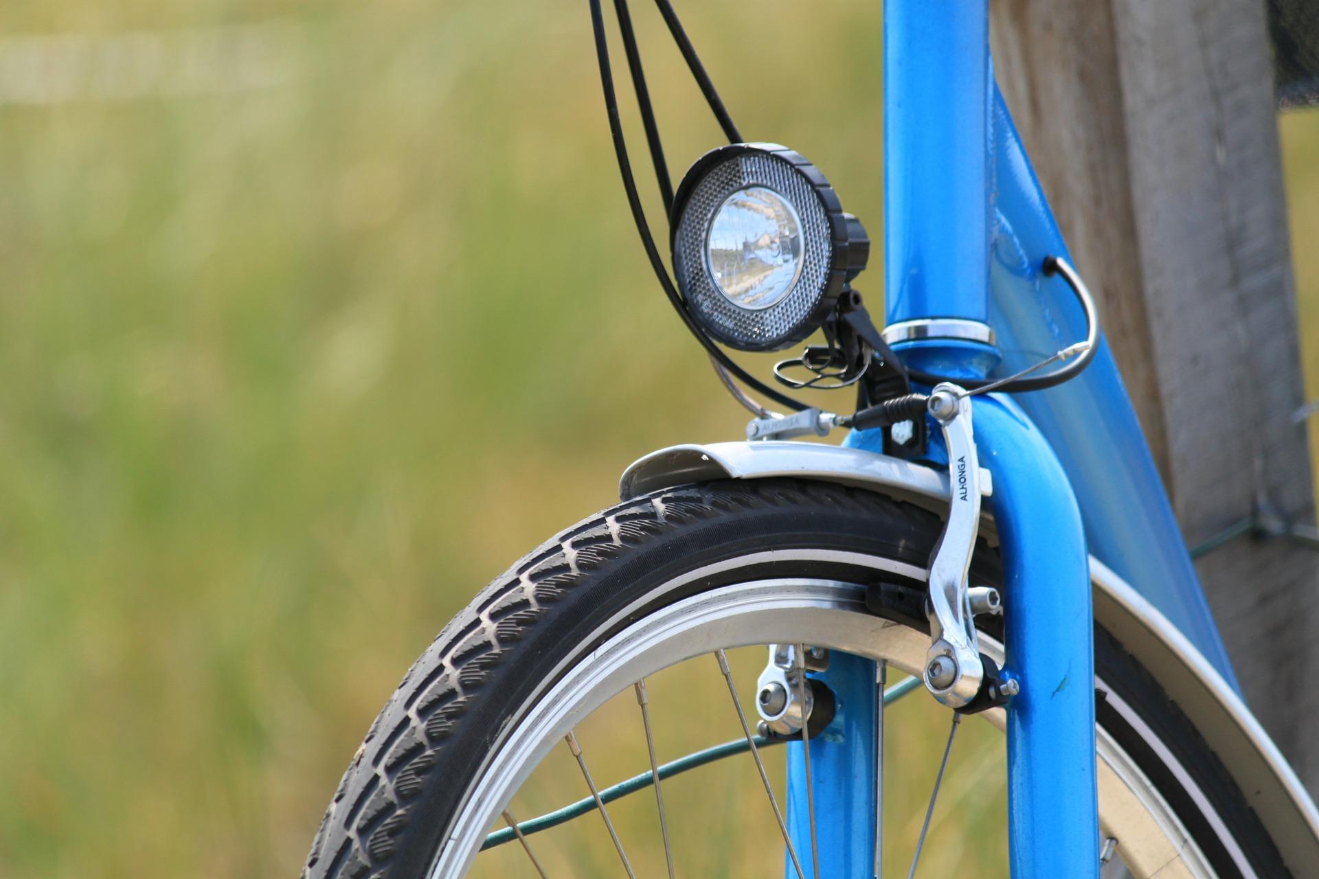 Cycle, Blue, Light, Metal, Tire, HQ Photo