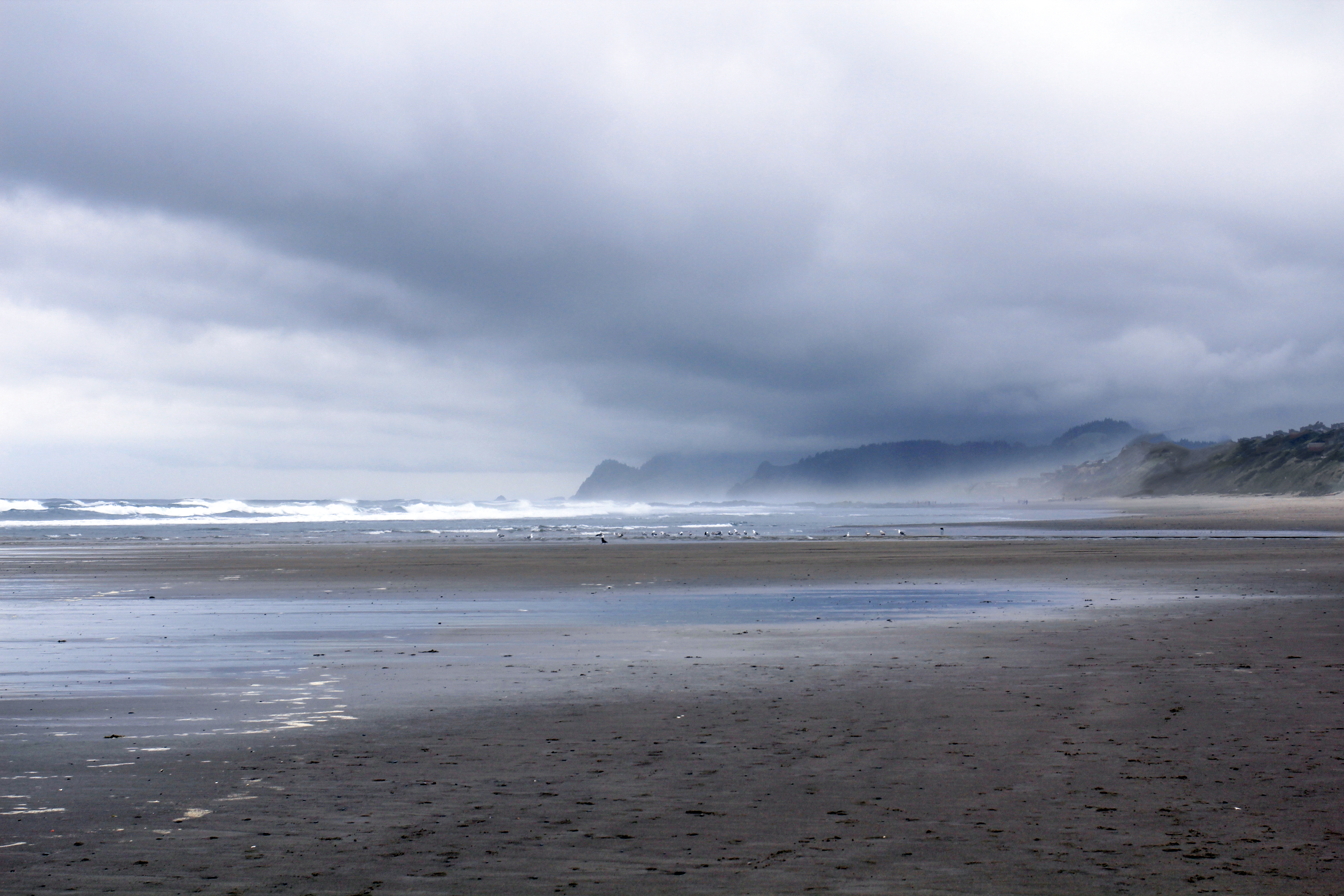D River Beach Oregon, Beach, Clouds, Coast, D, HQ Photo