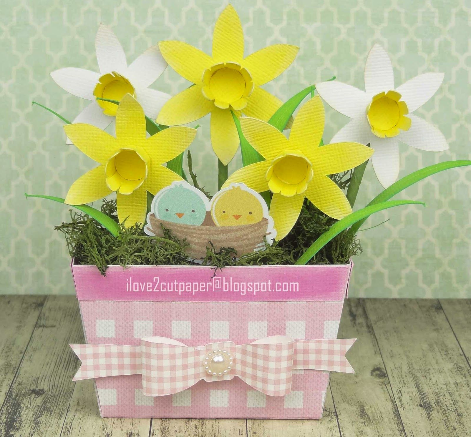 Daffodil Window Box with Print and Cut birds in nest! | easter ...