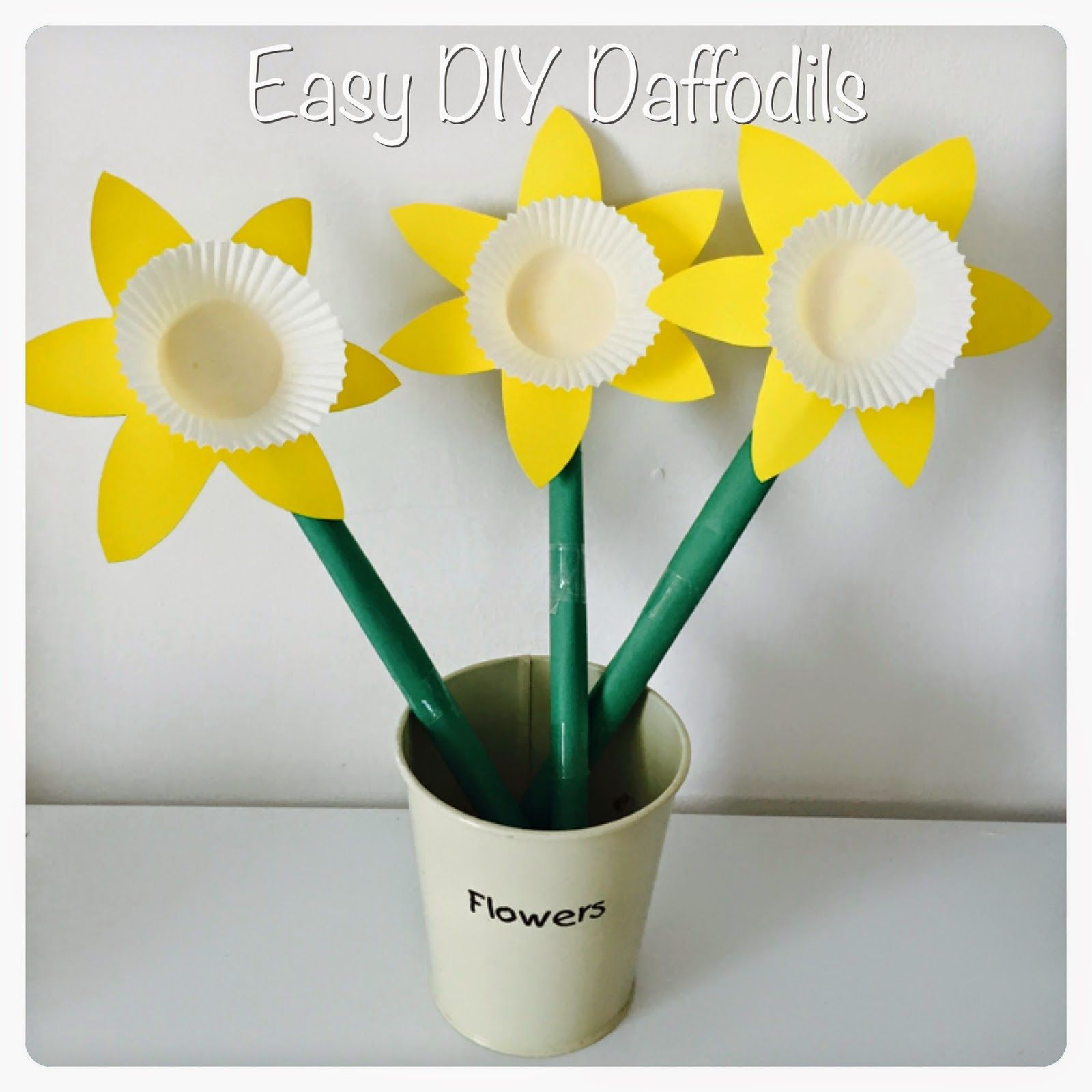 DIY Paper Daffodils - Crafts for kids | Daffodils, Craft and Easy