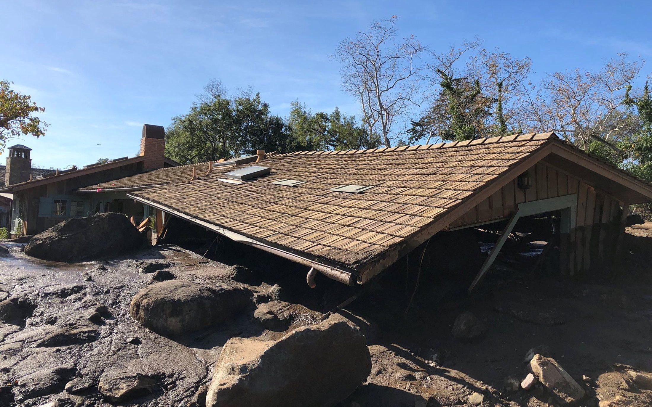 Damaged house photo