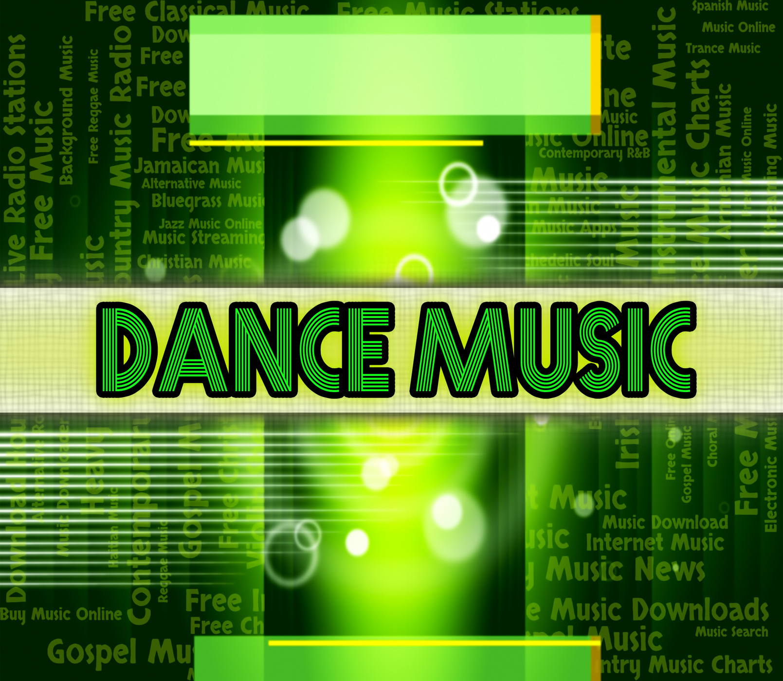 Dance music means sound tracks and dances photo