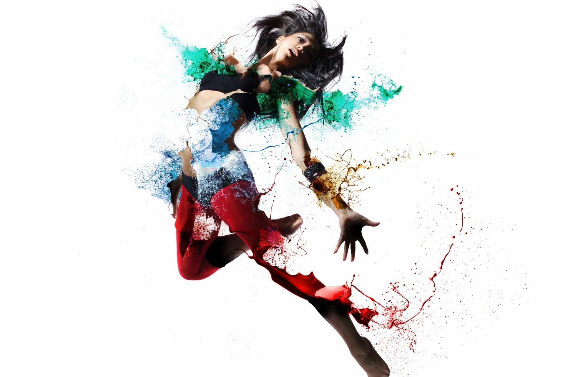 Girl shape color style psychedelic dance wallpaper | 1920x1280 ...