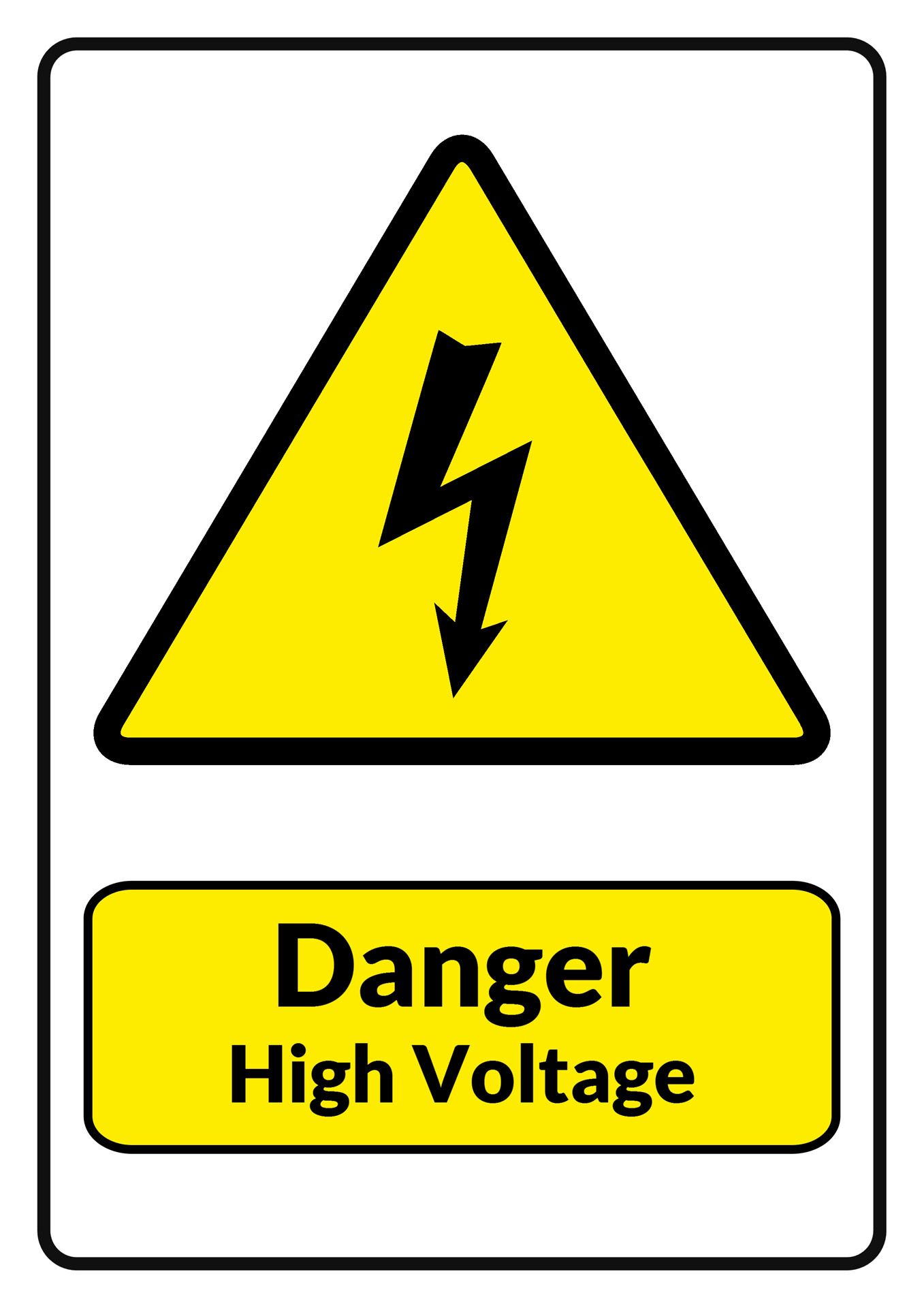 Danger High Voltage Warning Sign Free Stock Photo - Public Domain ...