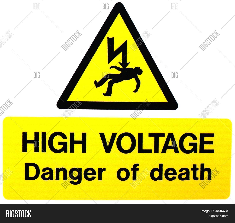 High Voltage- Danger Death Image & Photo | Bigstock