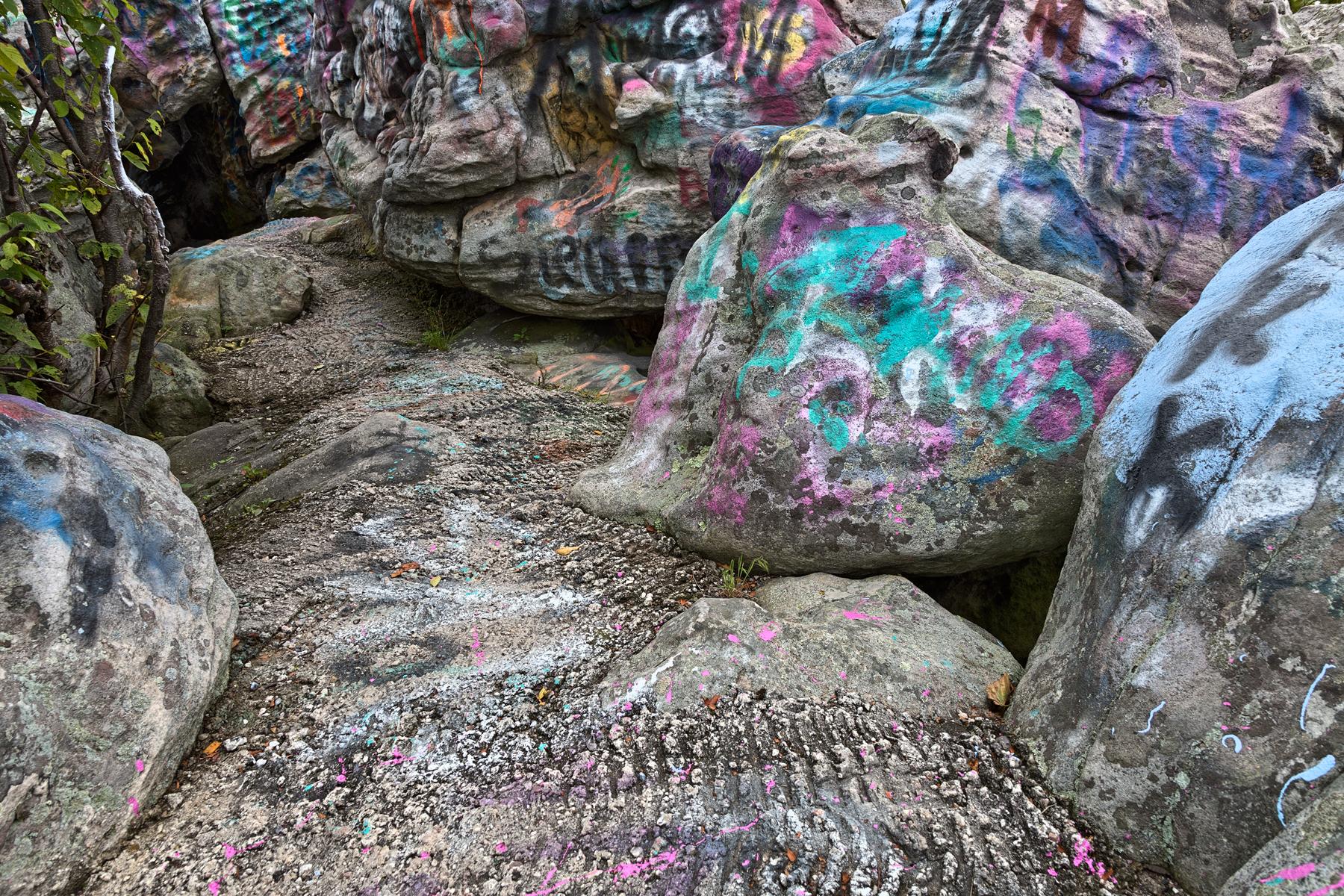 Dans vibrant rock - hdr photo