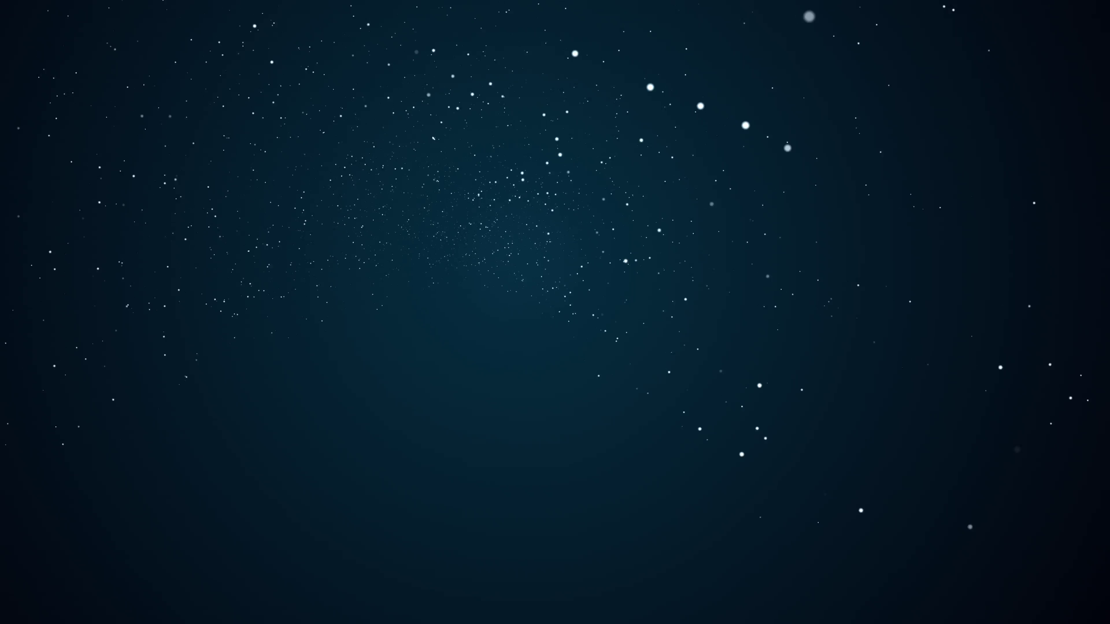 Visualization of bright dots moving around a dark background. Stock ...