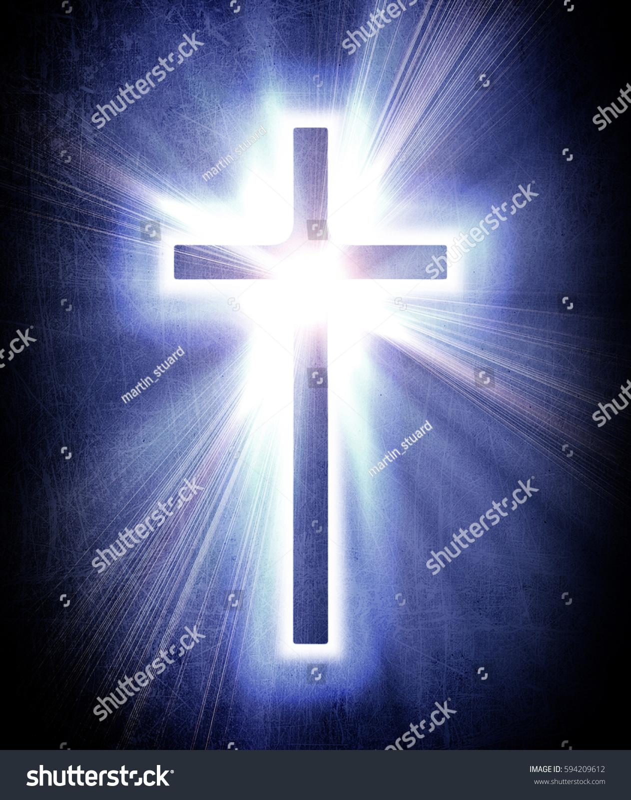 Dark blue cross photo