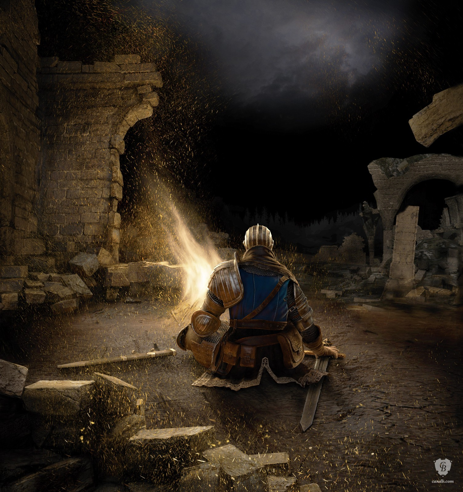 Artwork Bonfire - Dark Souls FromSoftware