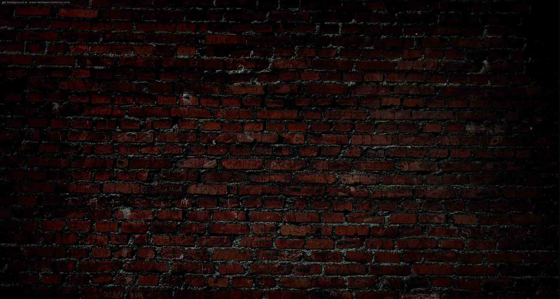 Free Photo Dark Brick Wall
