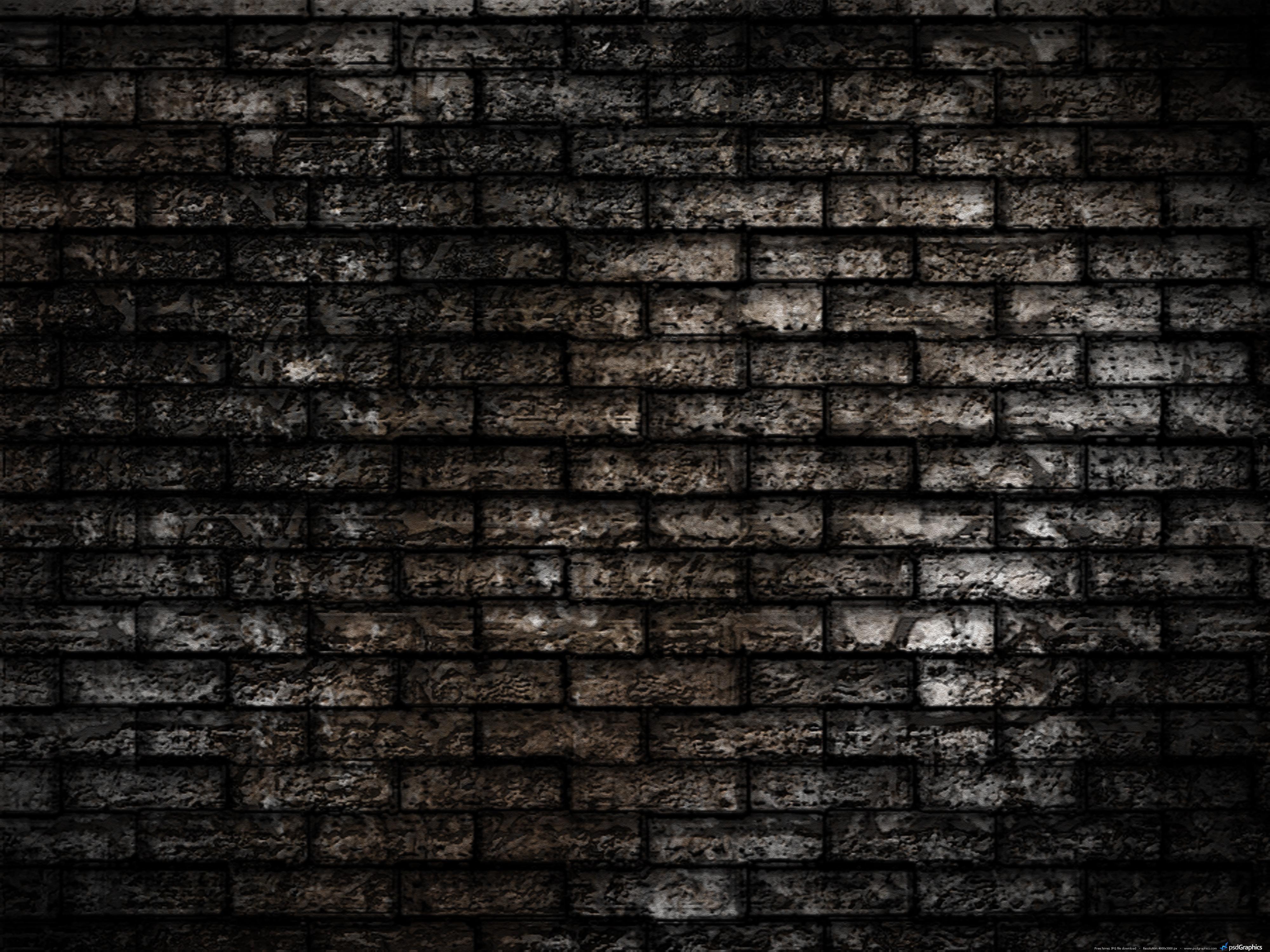 Brick Wall Seamless Brickwall Dark Texture - DMA Homes | #57976