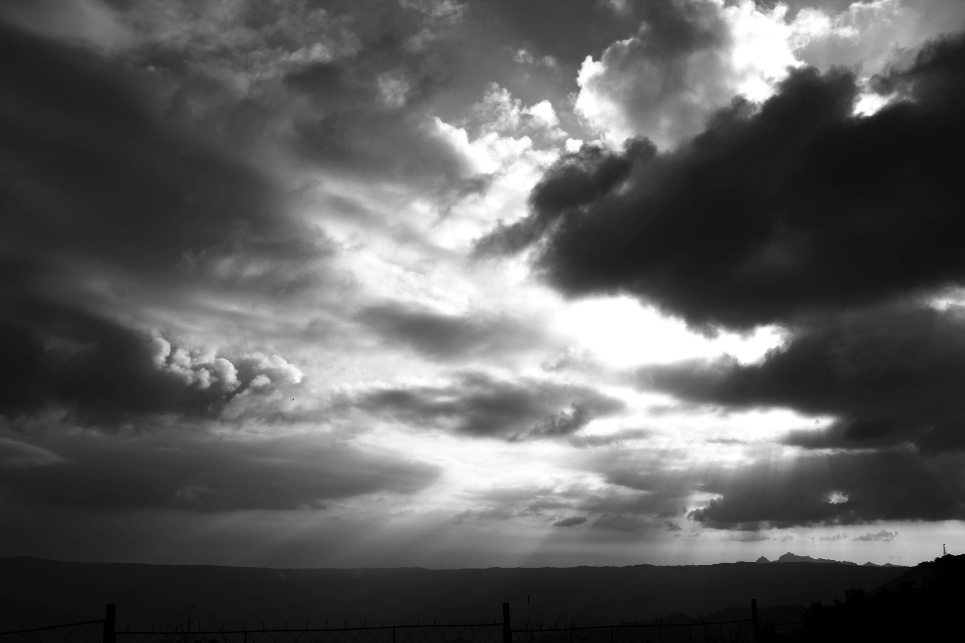 Sun Rays In The Dark Clouds Free Stock Photo - Public Domain Pictures