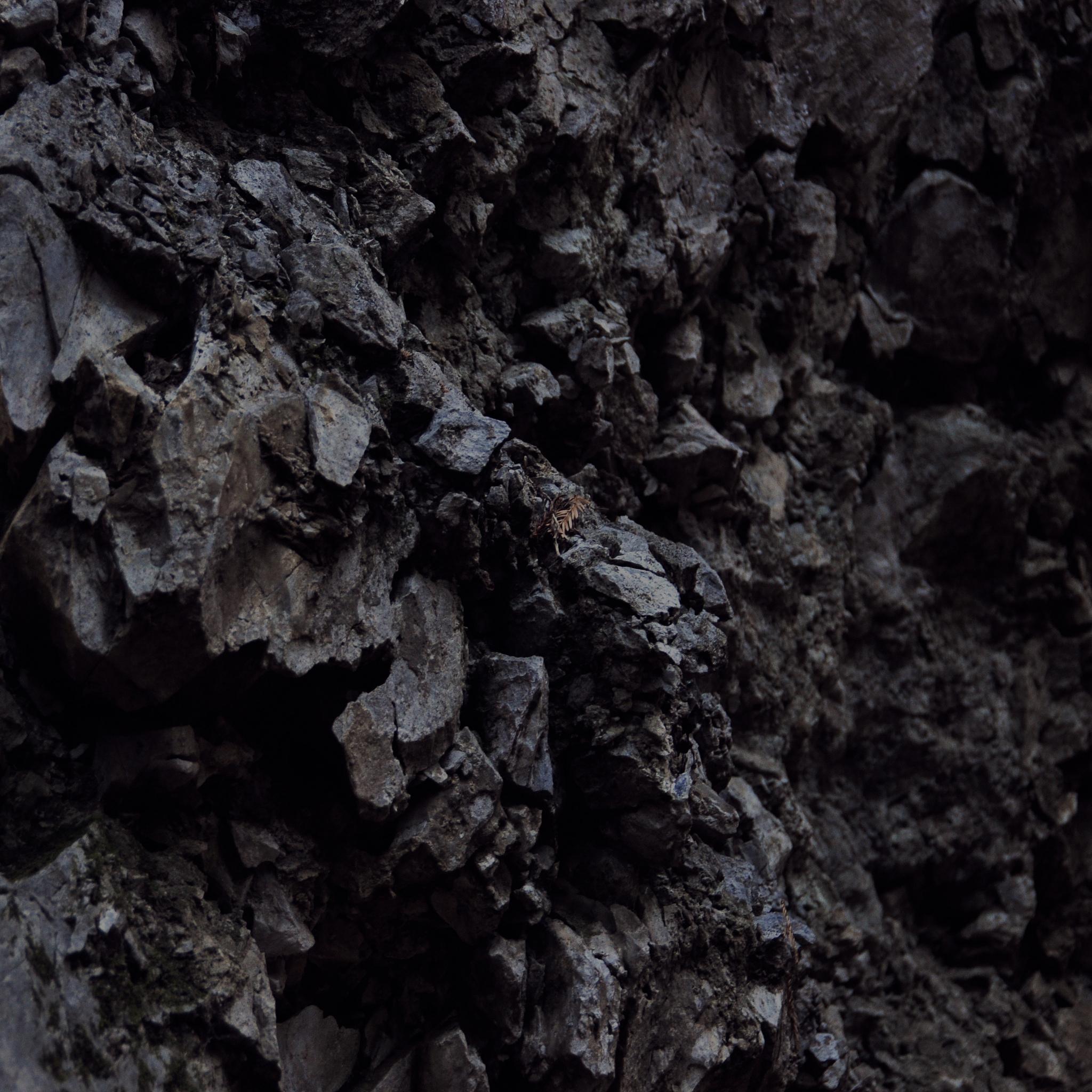 Dark rock texture photo