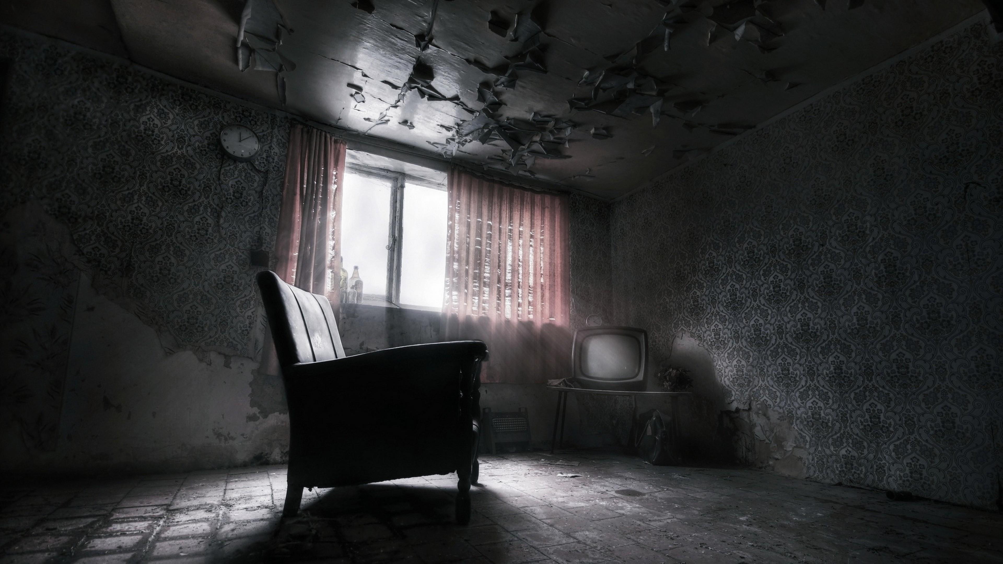 Abandoned Dark Room Wallpaper | Wallpaper Studio 10 | Tens of ...