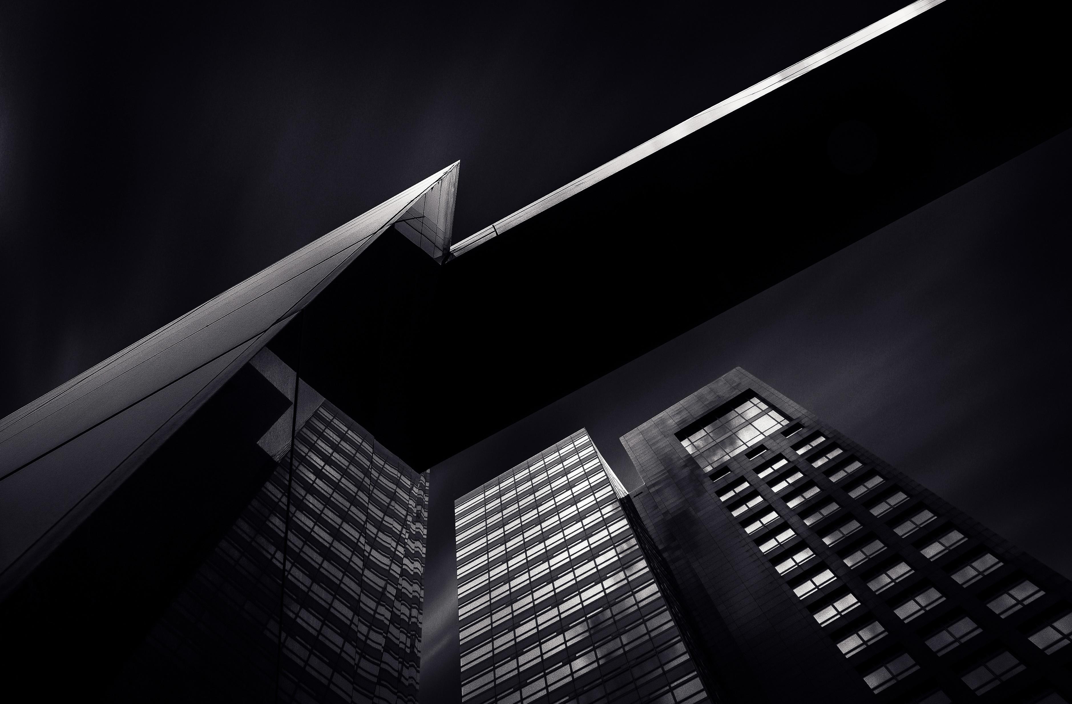 Dark Skyscrapers, Architecture, Building, City, Dark, HQ Photo