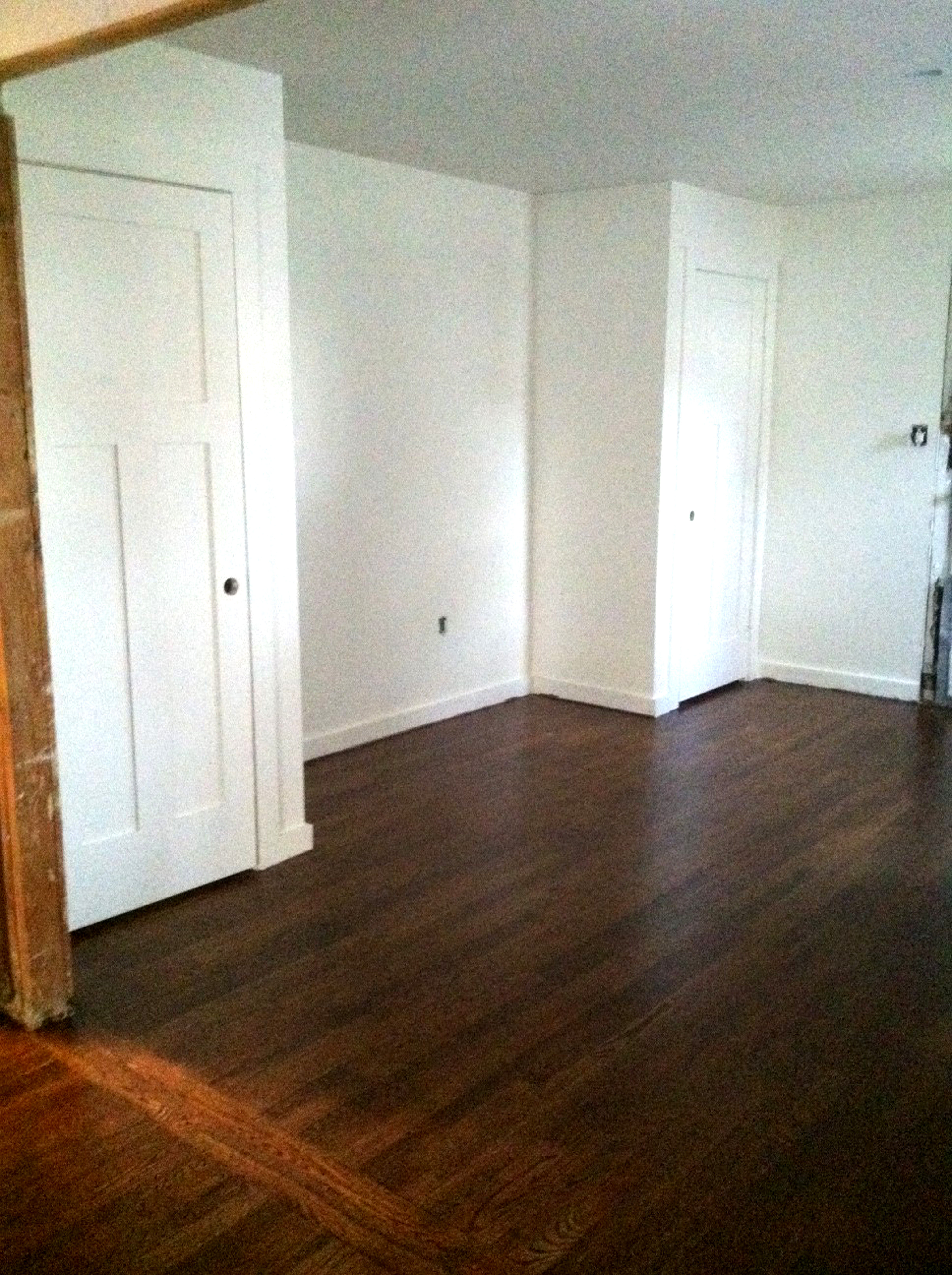 Dark Stain on Hardwood Floors - thewhitebuffalostylingco.com