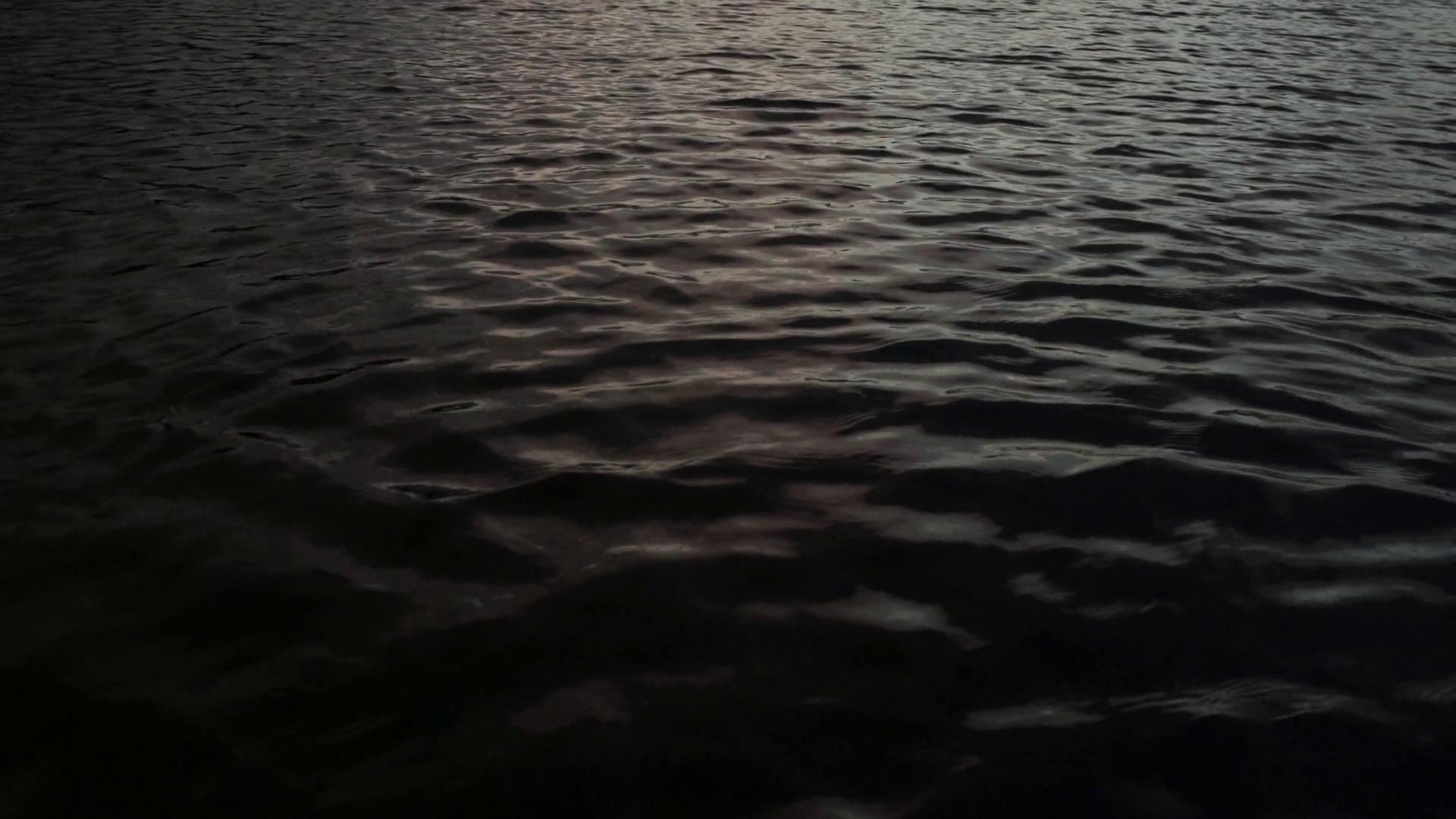 Dark Water Ripples, Beautiful Yet Ominous (Slow Motion) Stock Video ...