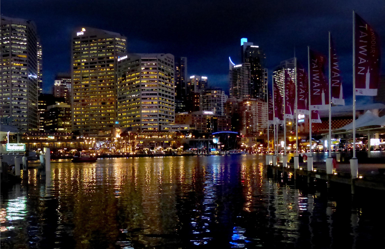 Darling Harbour Evening.Sydney., Architecture, City, Dusk, Free photos, HQ Photo