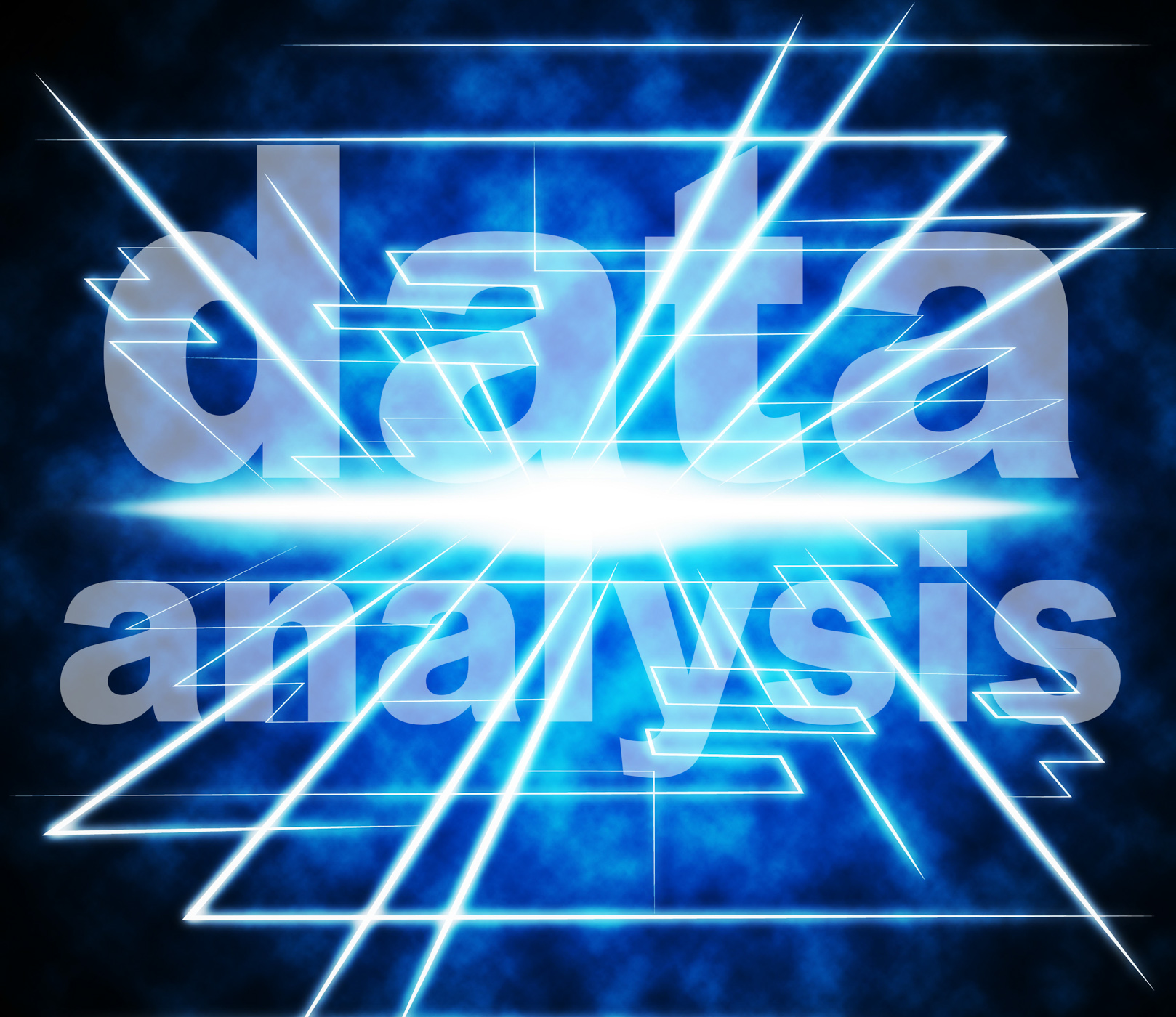 Data analysis shows analyzing bytes and facts photo