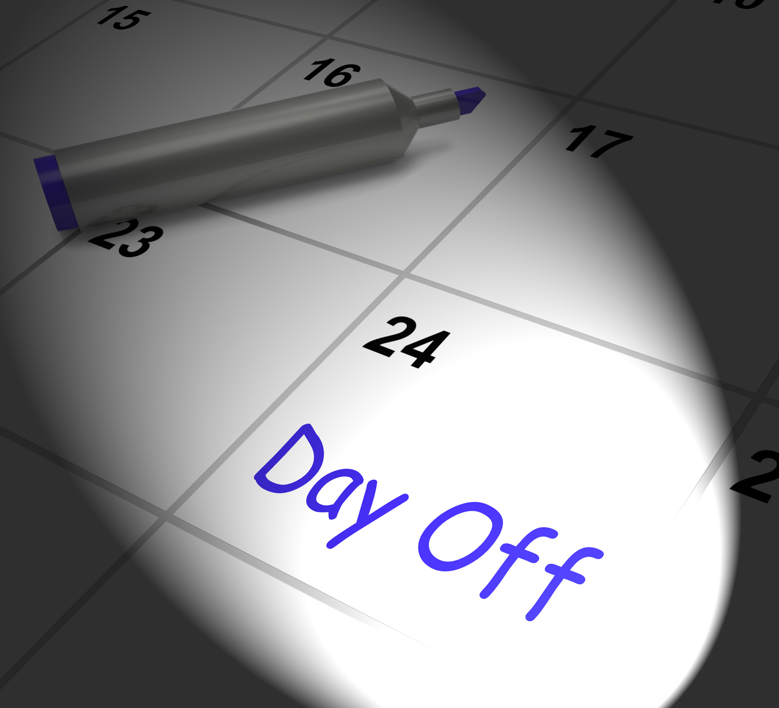 Day Off Calendar Displays Work Leave And Holiday, Break, Off, Vacation, Timeoff, HQ Photo