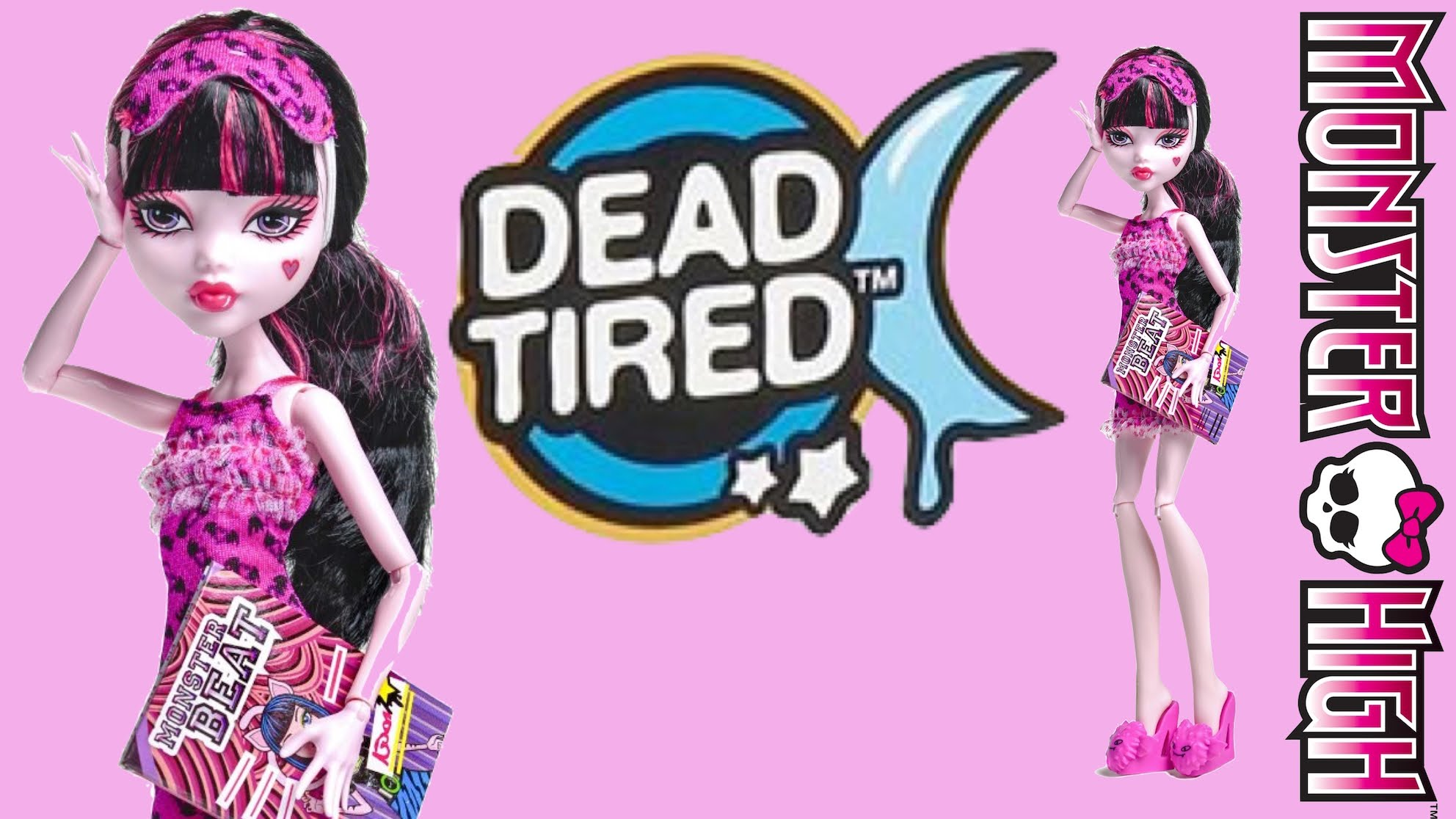 Dead Tired Draculaura Monster High Review - YouTube