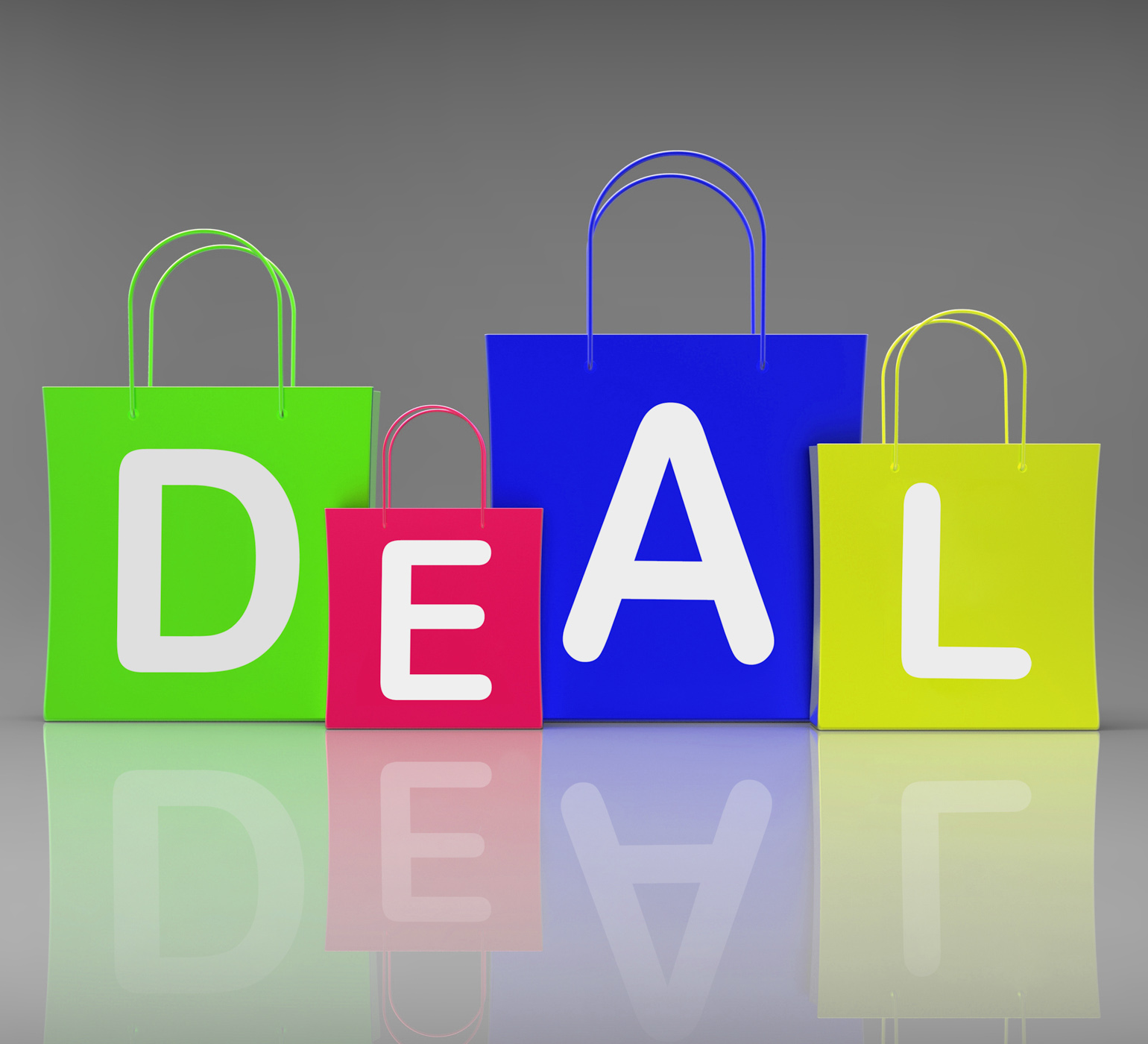 Deal bags show retail shopping and buying photo