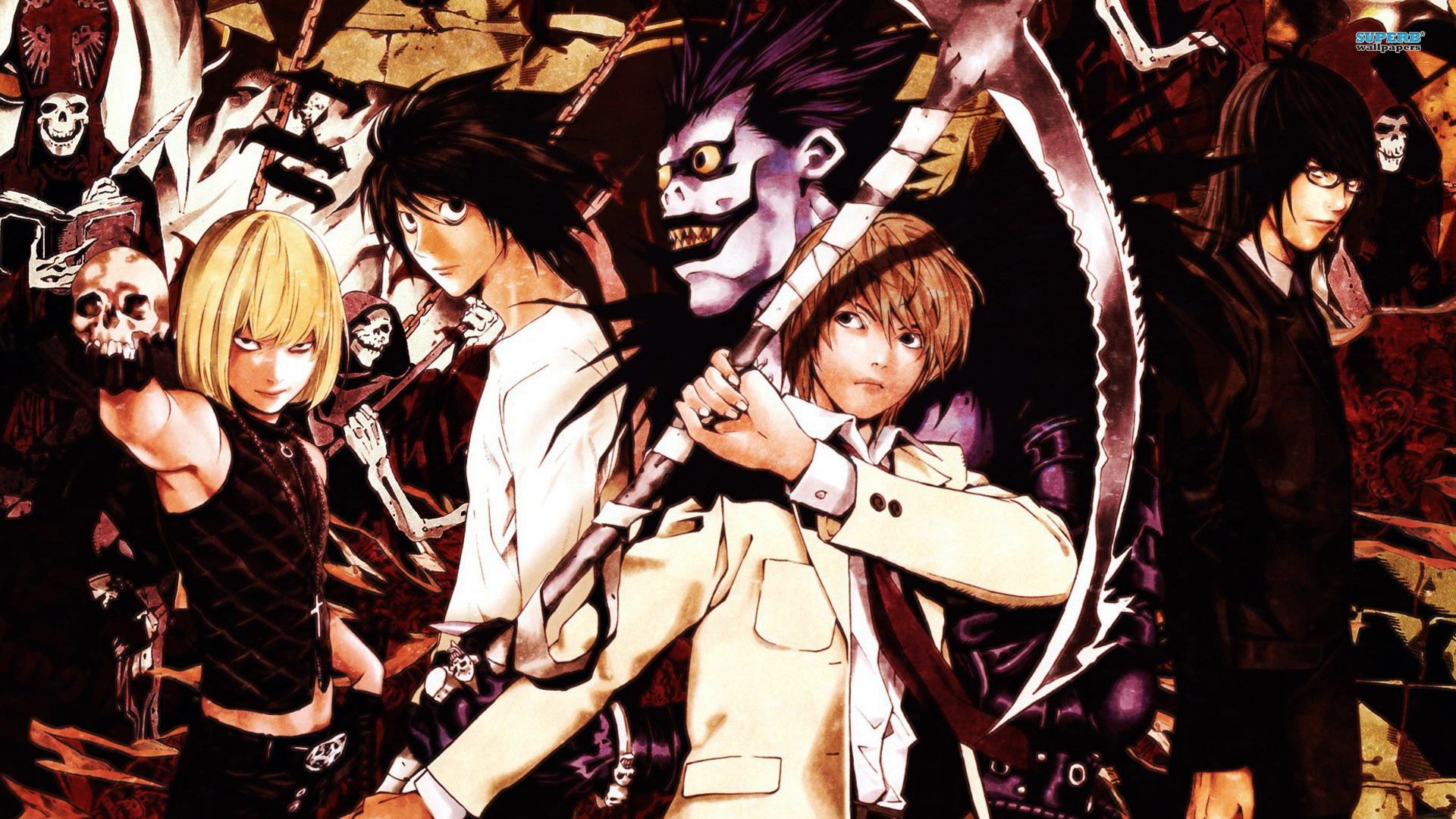Death Note Characters HD Wallpaper, Background Images