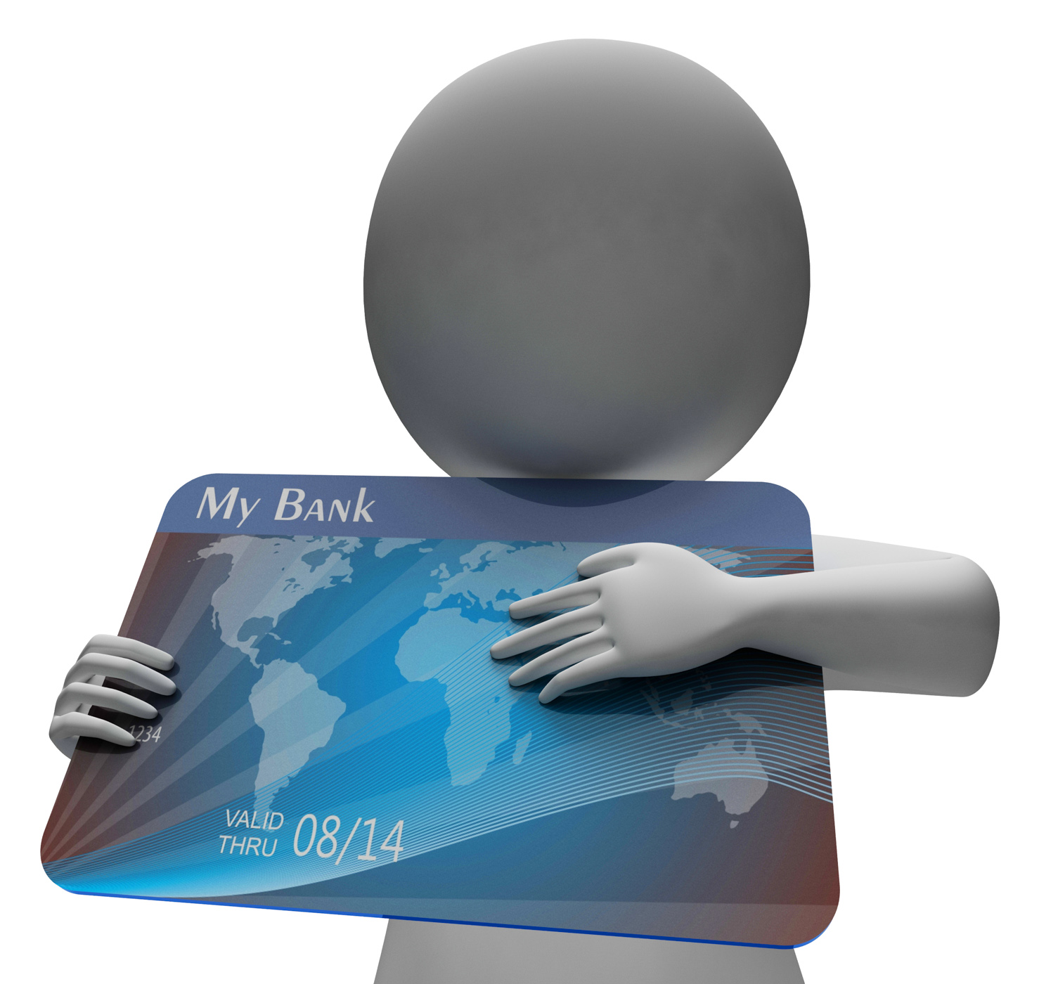 Debit Card Indicates Buying Banking And Indebtedness 3d Rendering, 3drendering, Problem, Indebtedness, Loan, HQ Photo